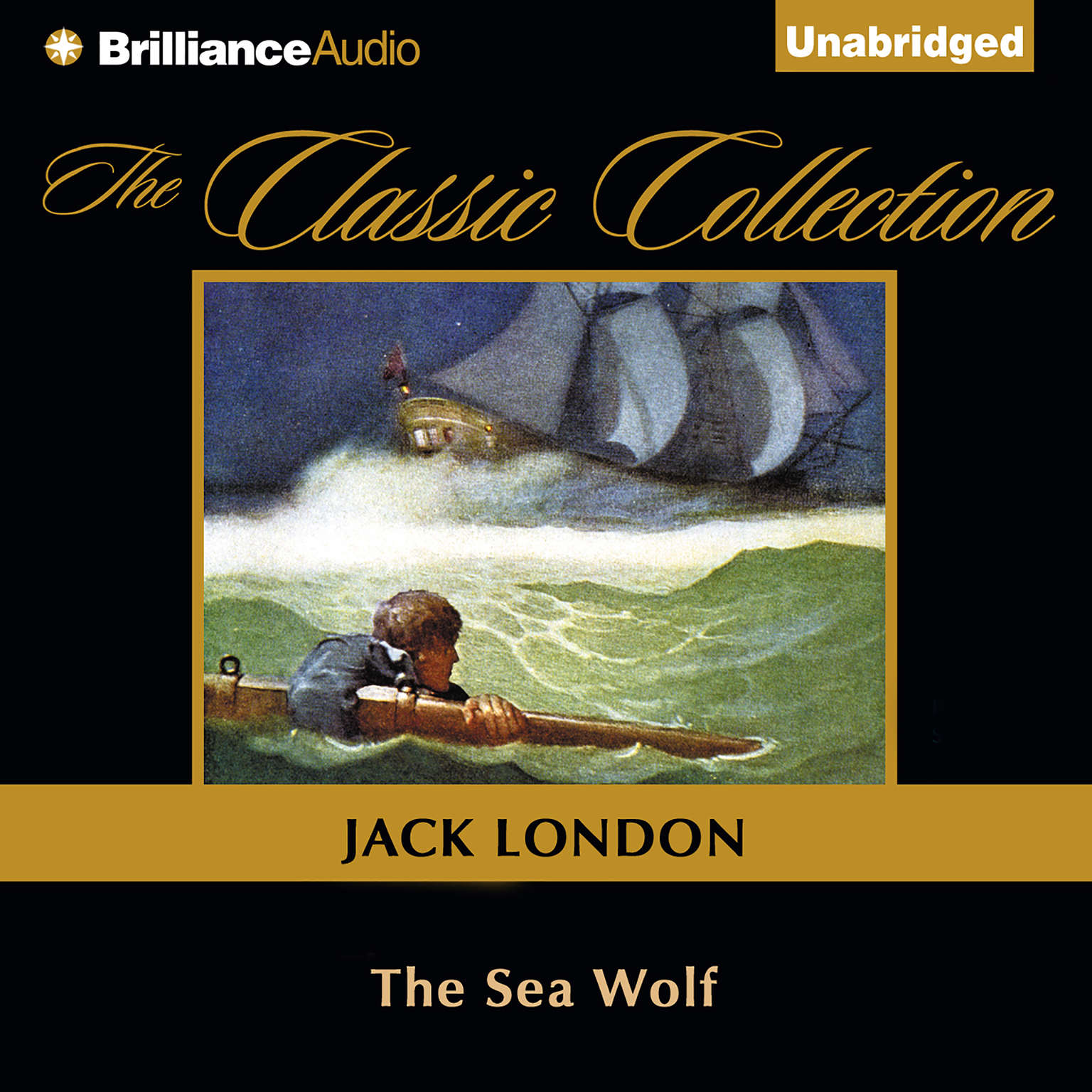 Printable The Sea Wolf Audiobook Cover Art
