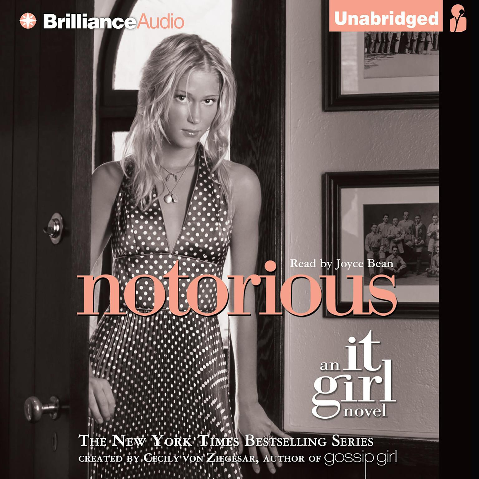 Printable Notorious: An It Girl Novel Audiobook Cover Art