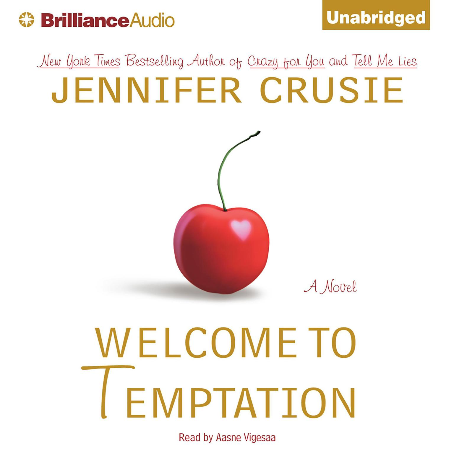 Printable Welcome to Temptation Audiobook Cover Art