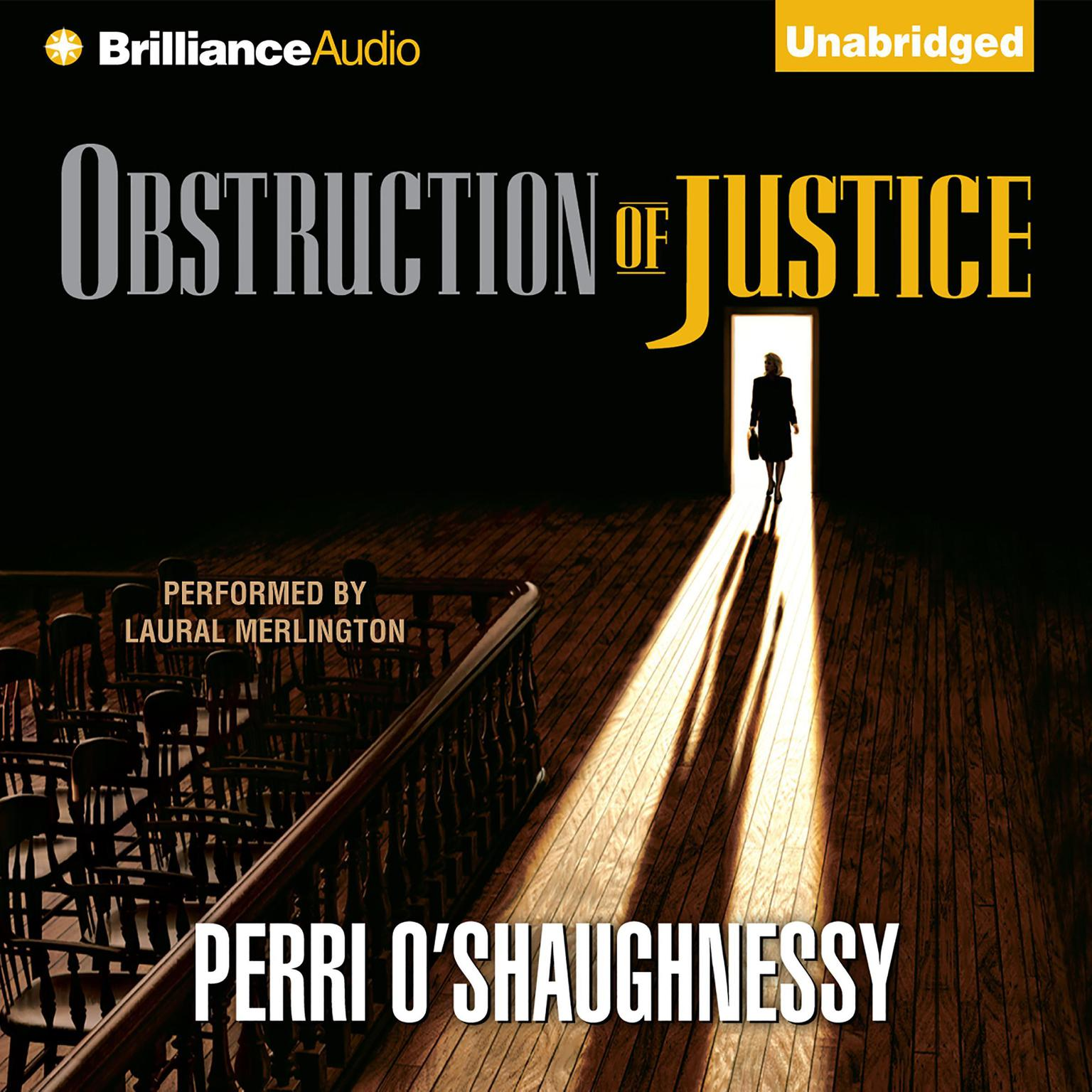 Printable Obstruction of Justice Audiobook Cover Art