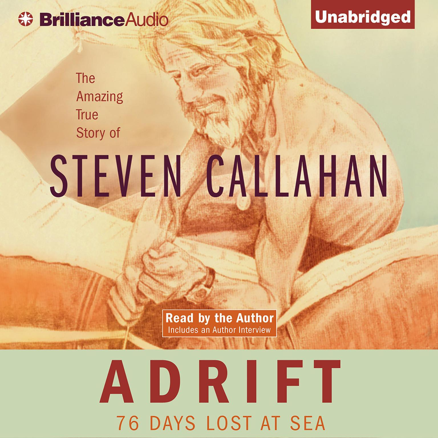 Printable Adrift: Seventy-six Days Lost at Sea Audiobook Cover Art