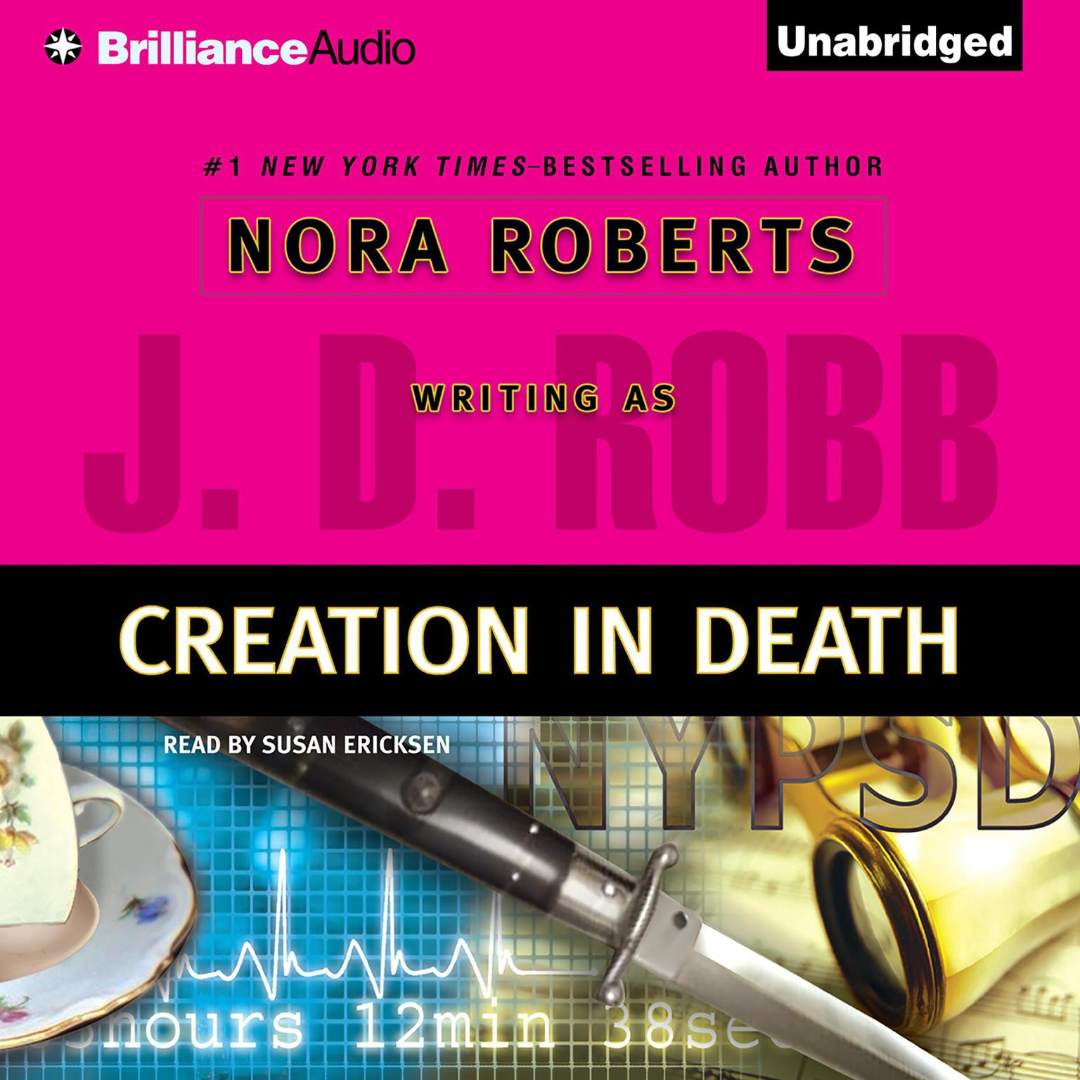 Printable Creation in Death Audiobook Cover Art