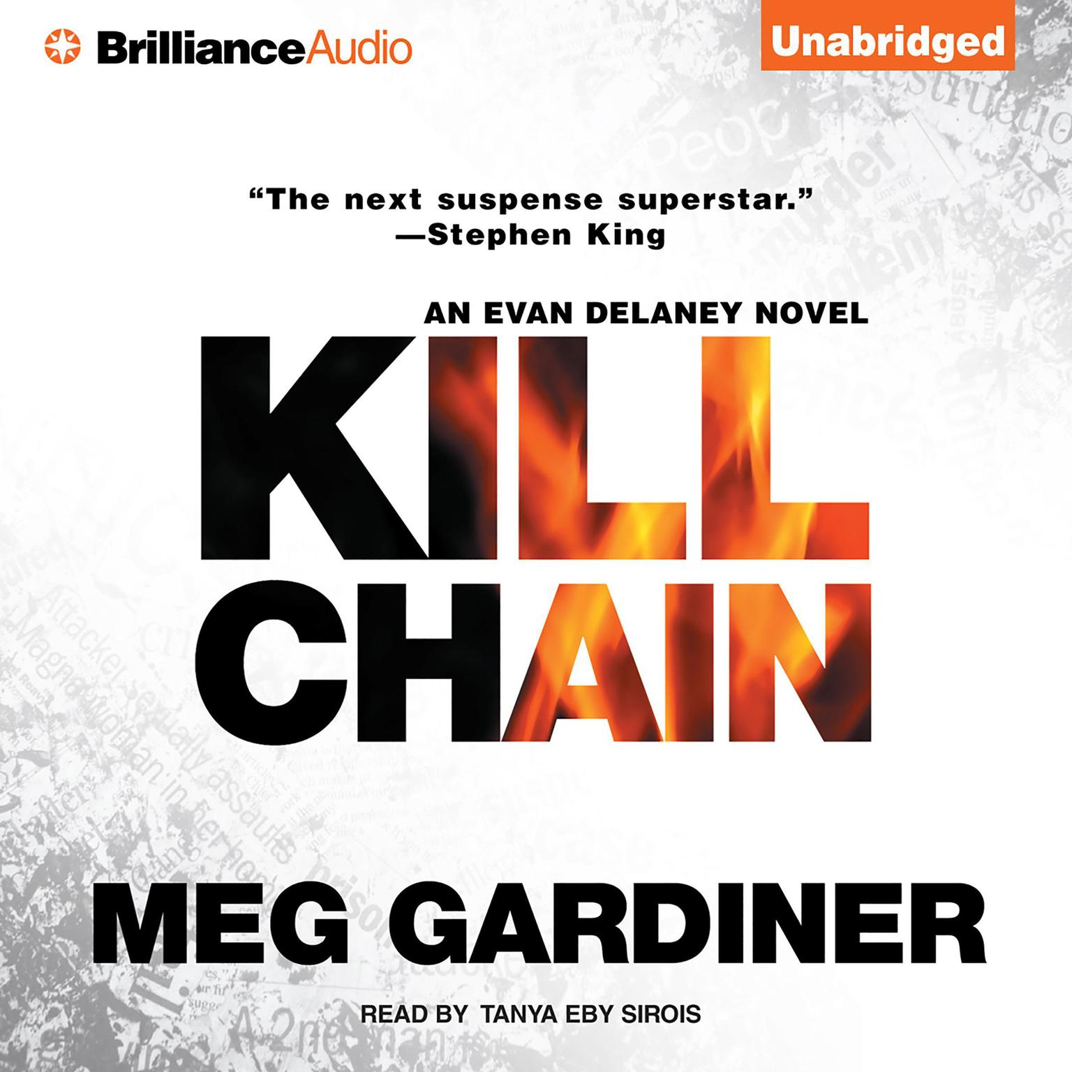 Printable Kill Chain: An Evan Delaney Novel Audiobook Cover Art