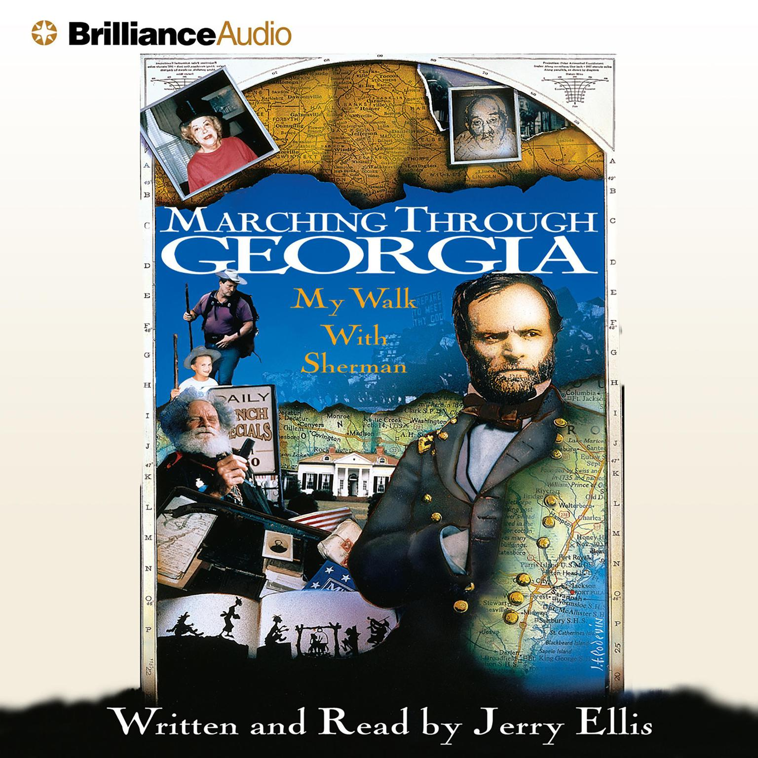 Printable Marching Through Georgia: My Walk With Sherman Audiobook Cover Art