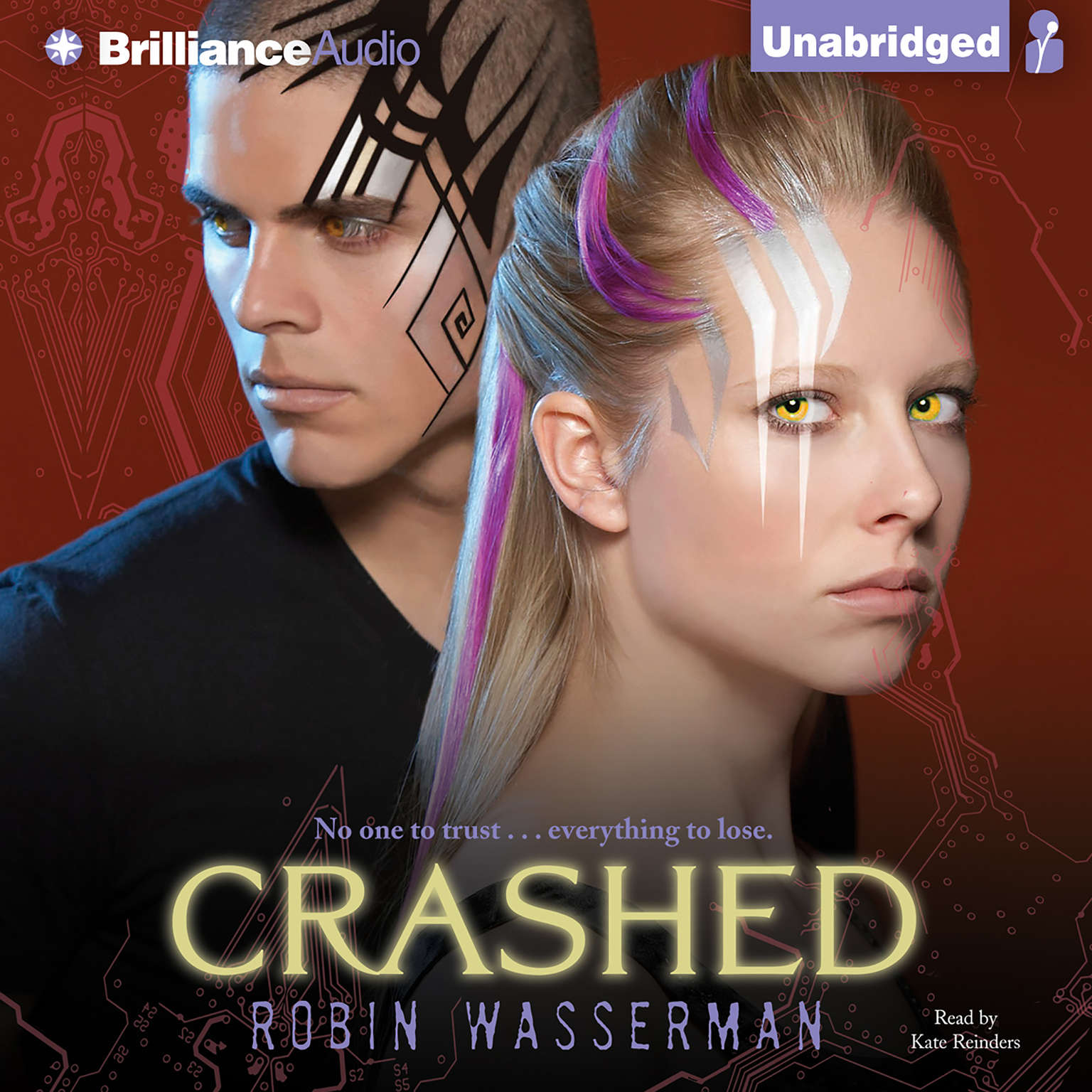 Printable Crashed Audiobook Cover Art