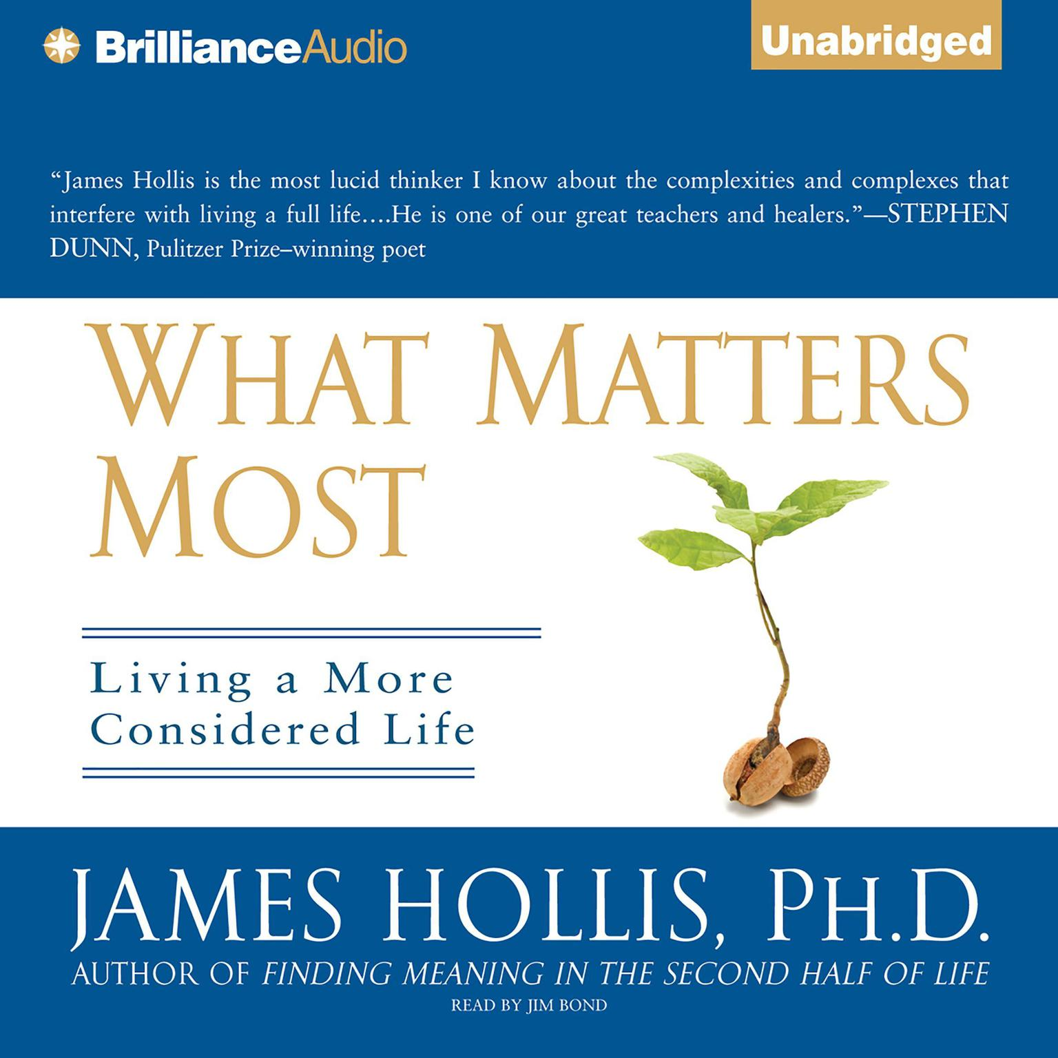 Printable What Matters Most: Living a More Considered Life Audiobook Cover Art
