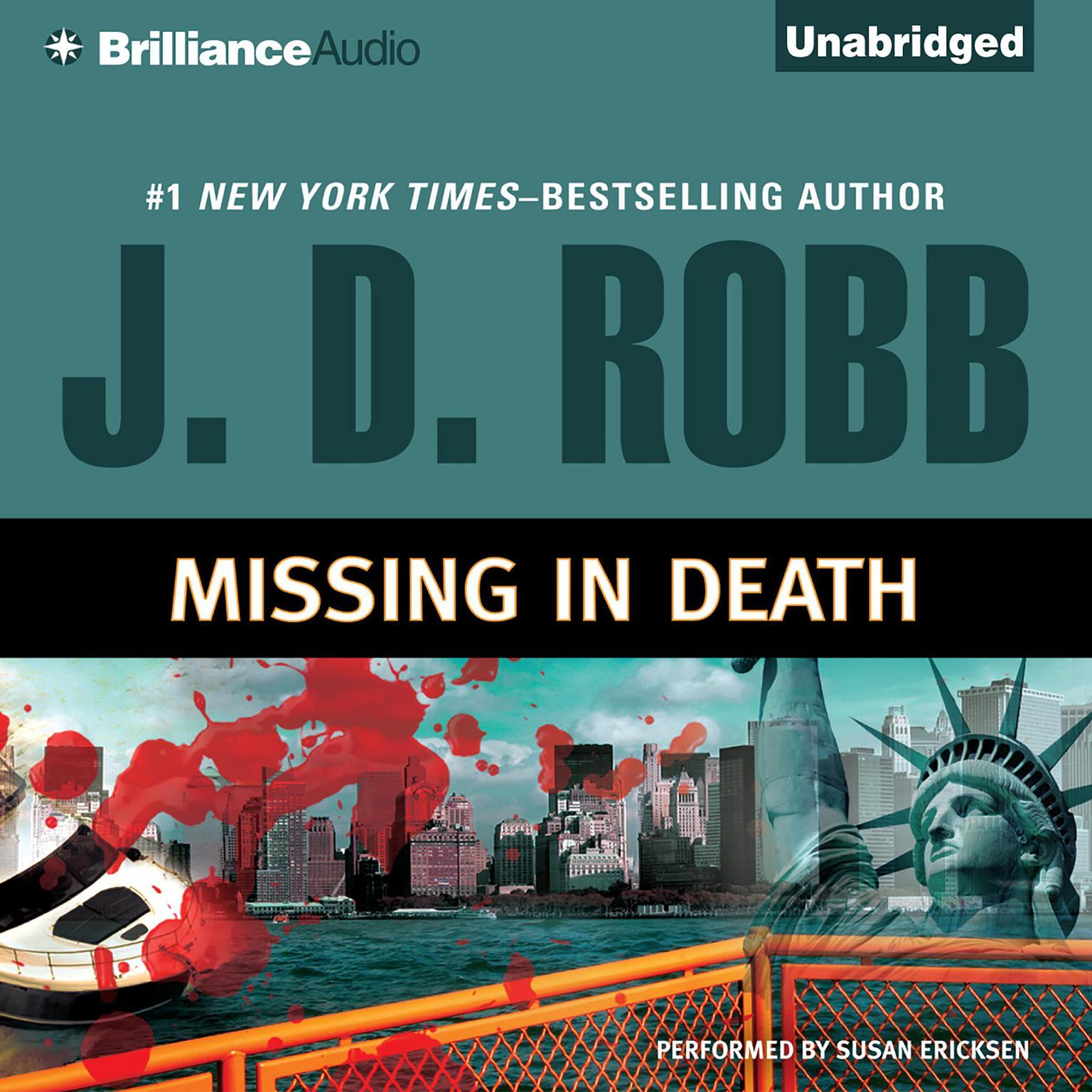 Printable Missing in Death Audiobook Cover Art