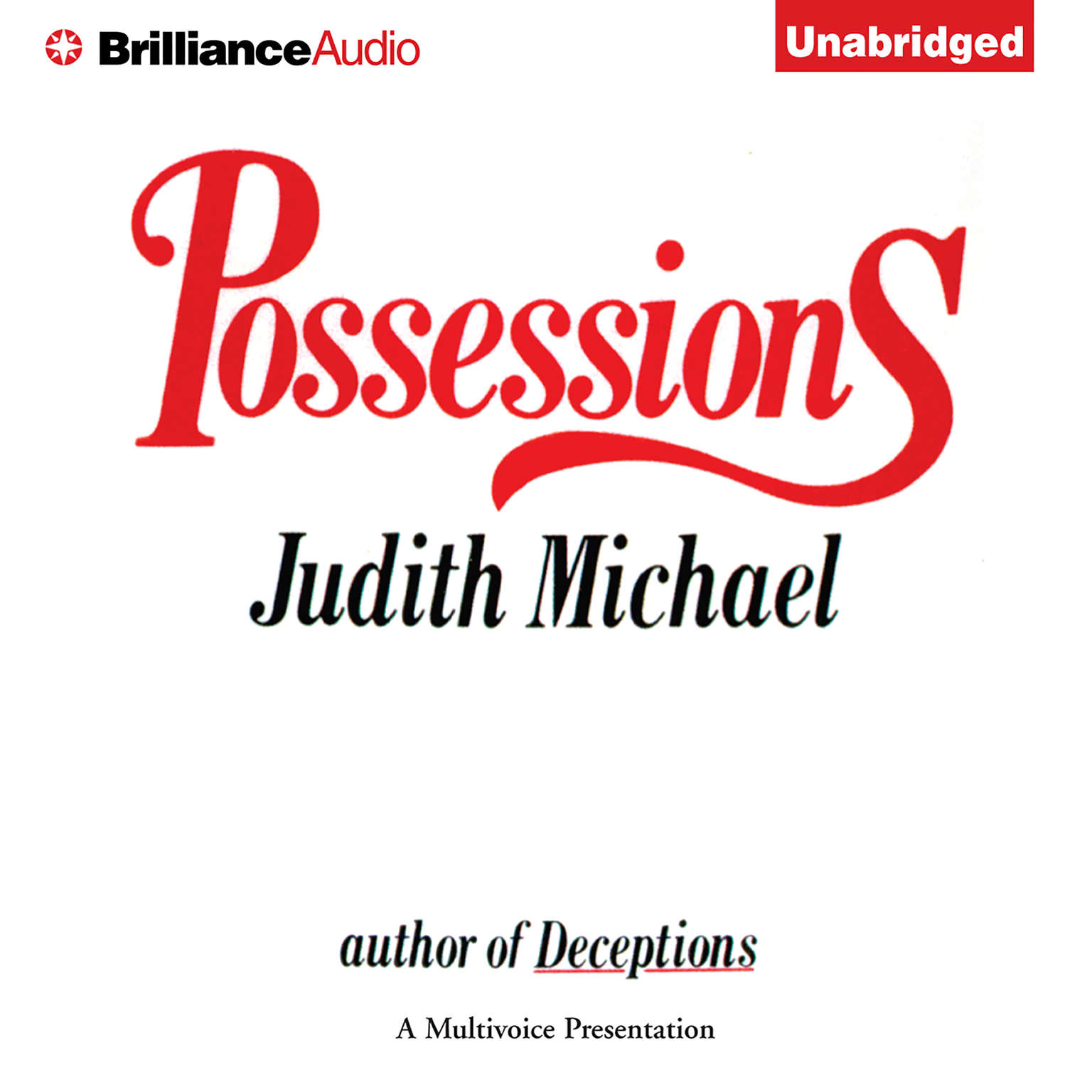 Printable Possessions Audiobook Cover Art