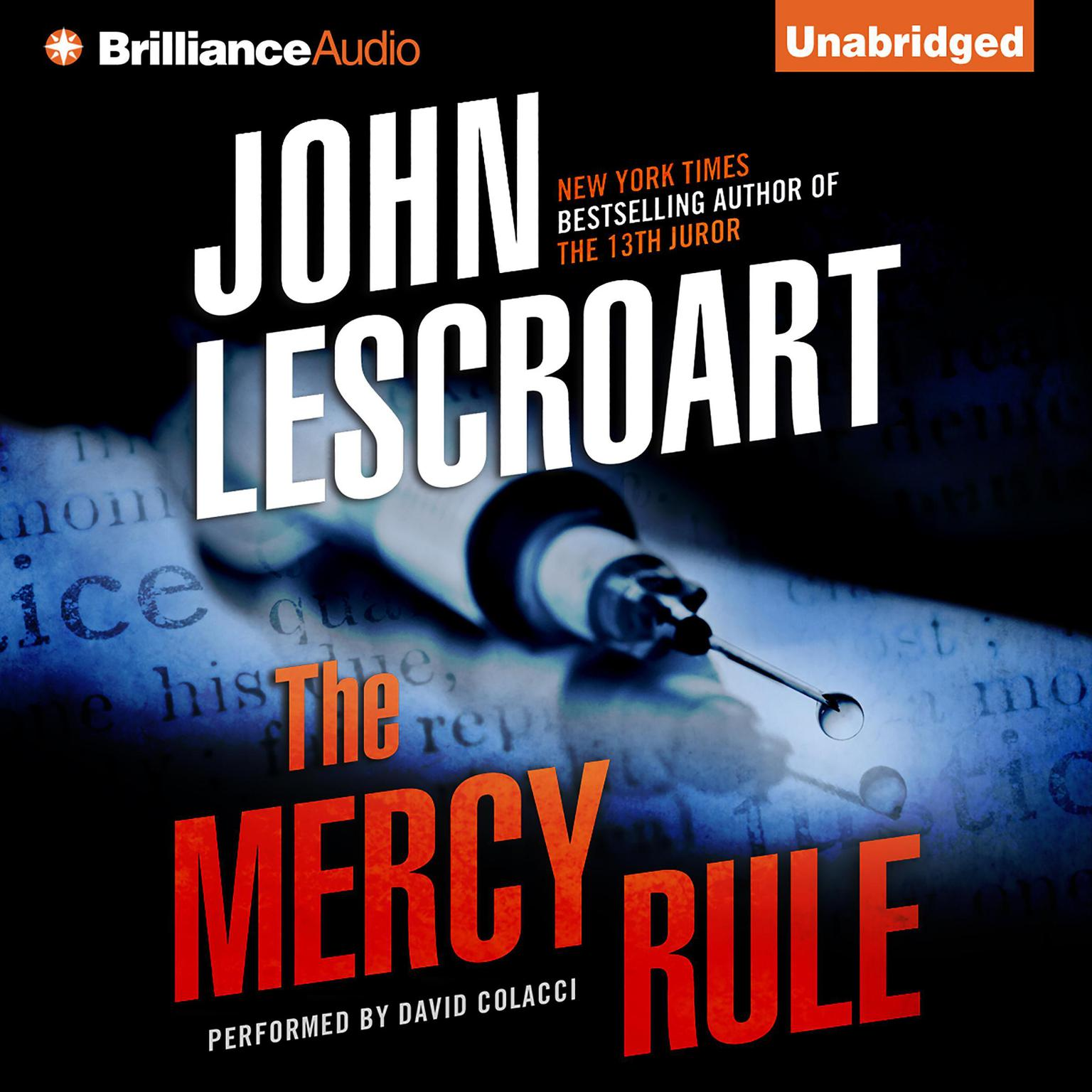 Printable The Mercy Rule Audiobook Cover Art