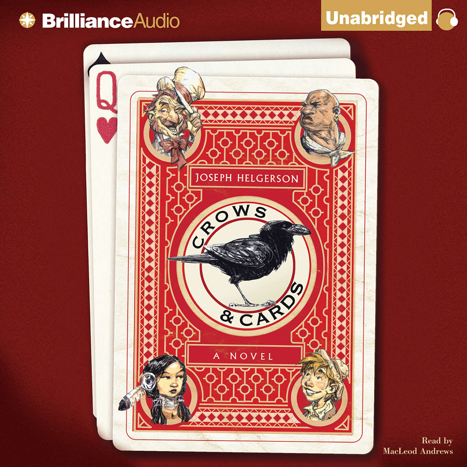 Printable Crows & Cards: A Novel Audiobook Cover Art