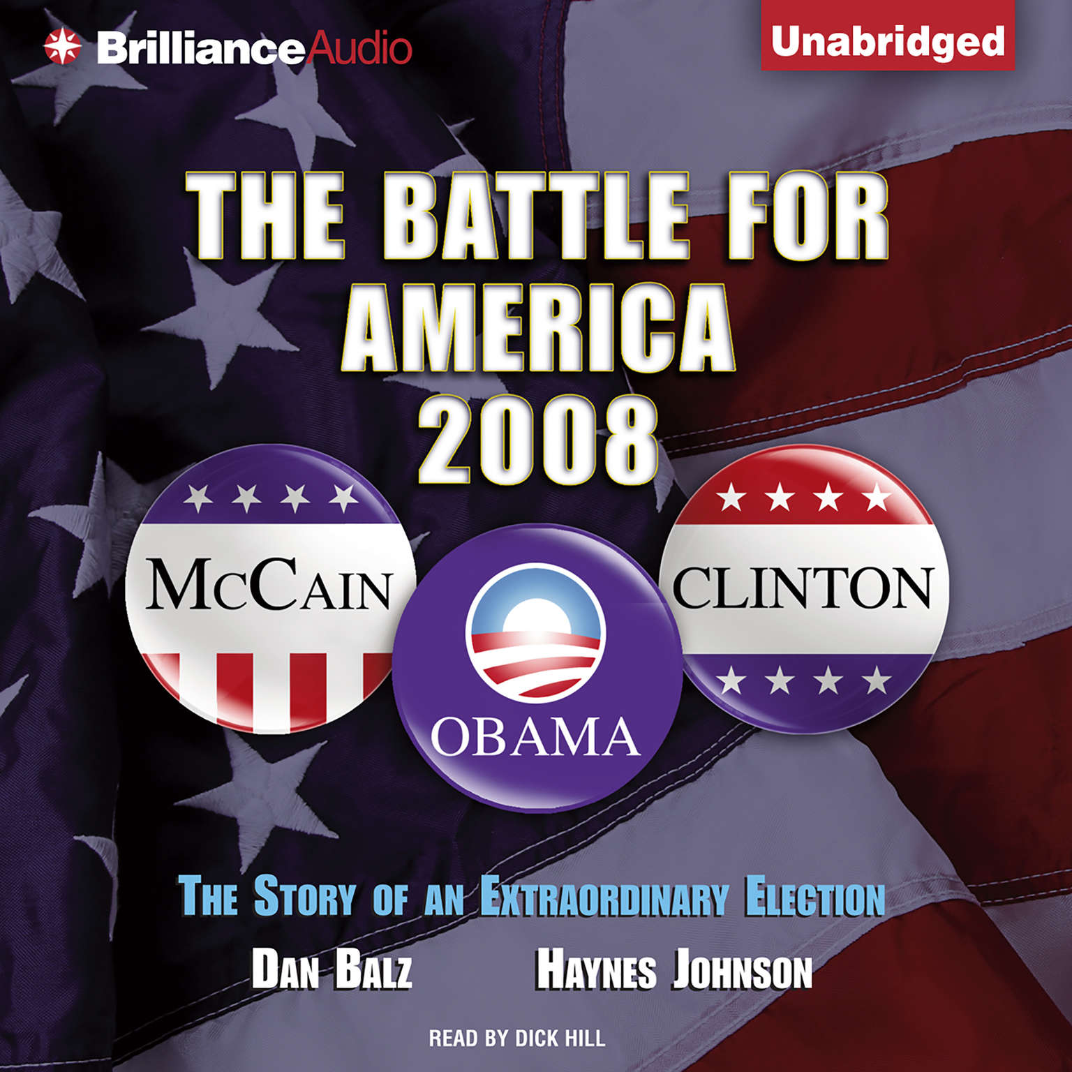 Printable The Battle for America, 2008: The Story of an Extraordinary Election Audiobook Cover Art
