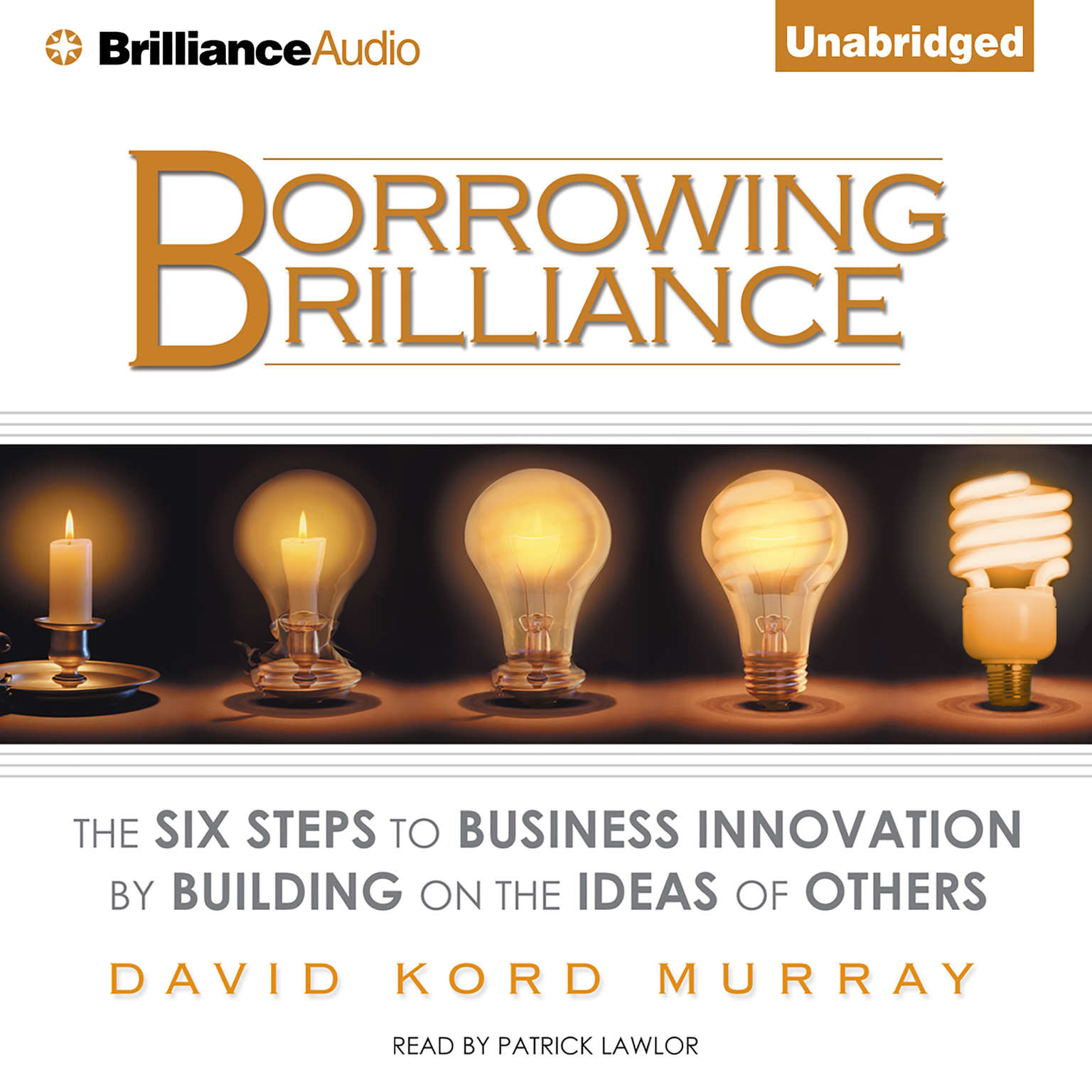 Printable Borrowing Brilliance: The Six Steps to Business Innovation by Building on the Ideas of Others Audiobook Cover Art