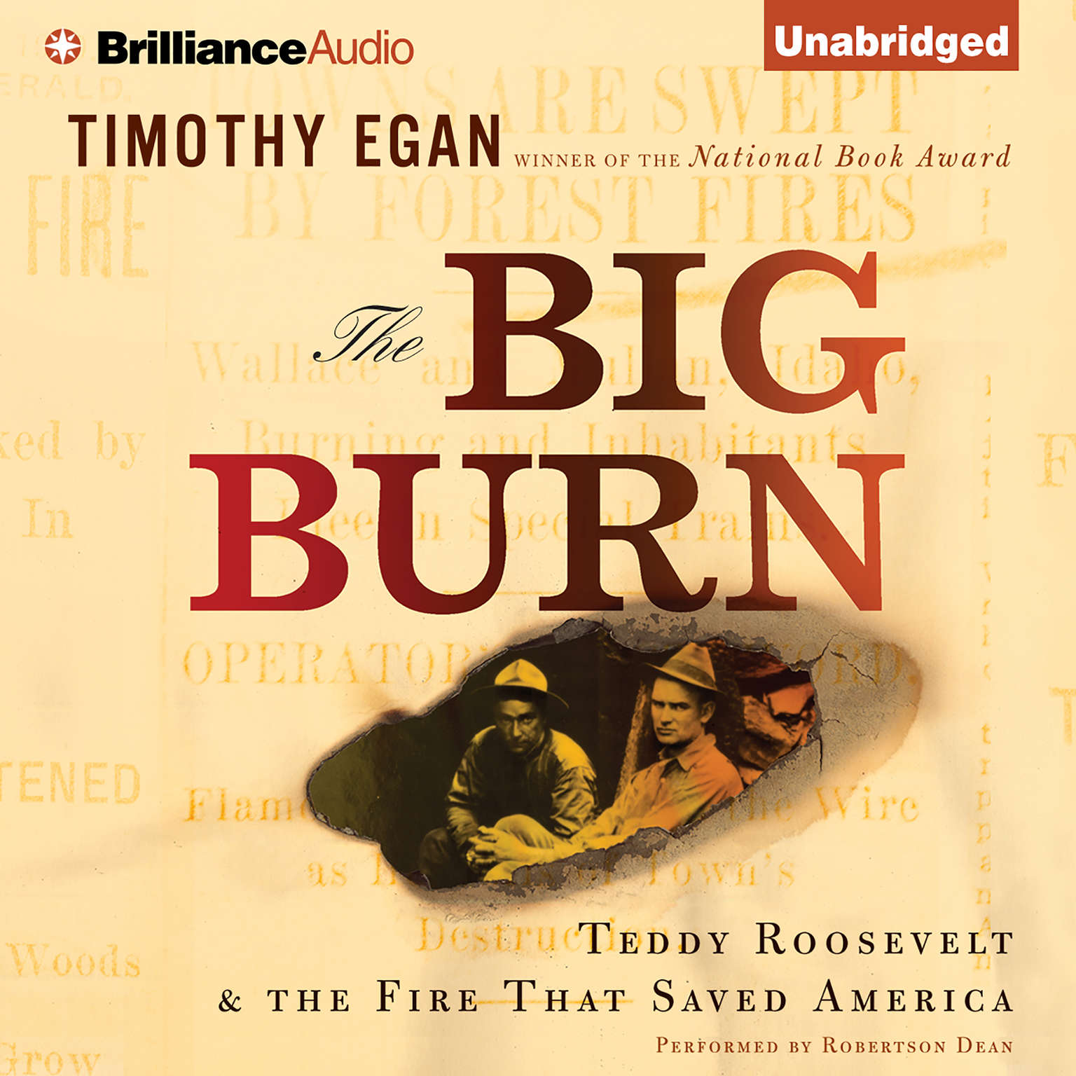 Printable The Big Burn: Teddy Roosevelt & the Fire That Saved America Audiobook Cover Art