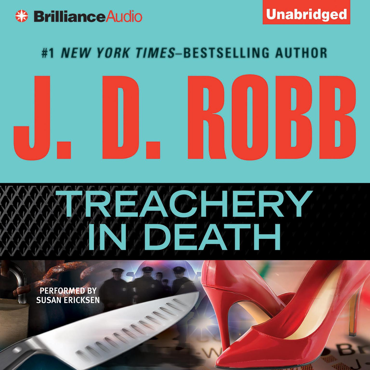 Printable Treachery in Death Audiobook Cover Art