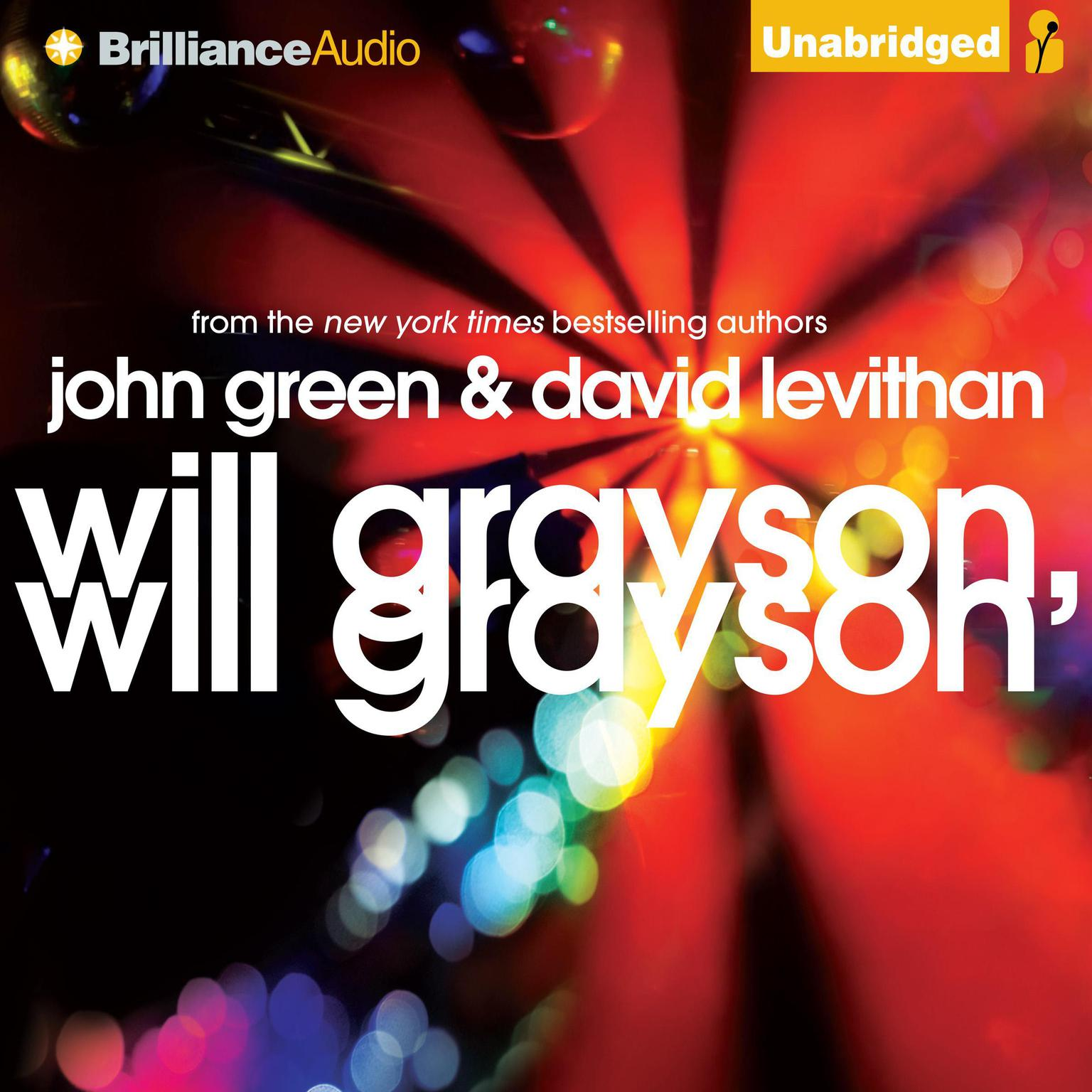 Printable Will Grayson, Will Grayson Audiobook Cover Art
