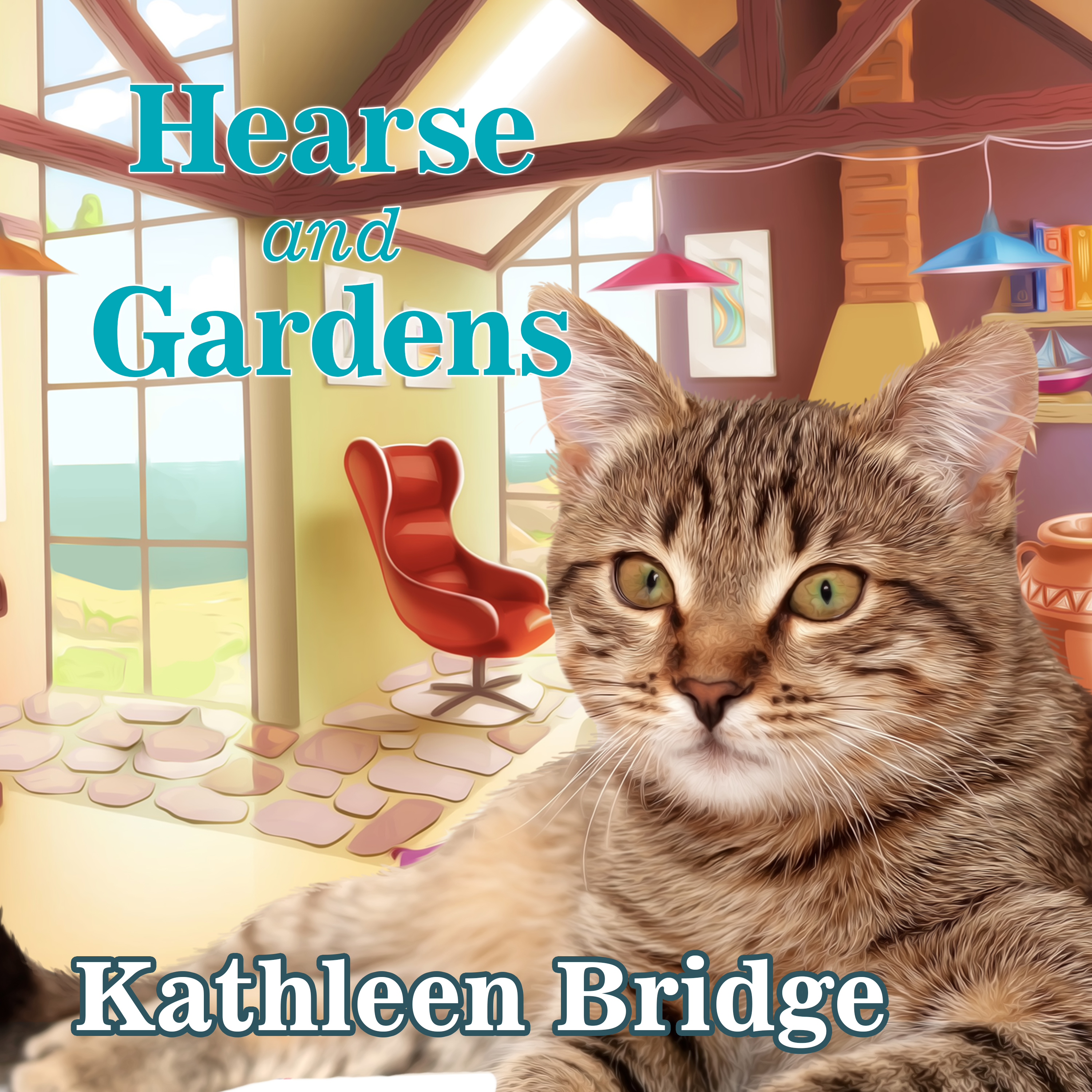 Printable Hearse and Gardens Audiobook Cover Art