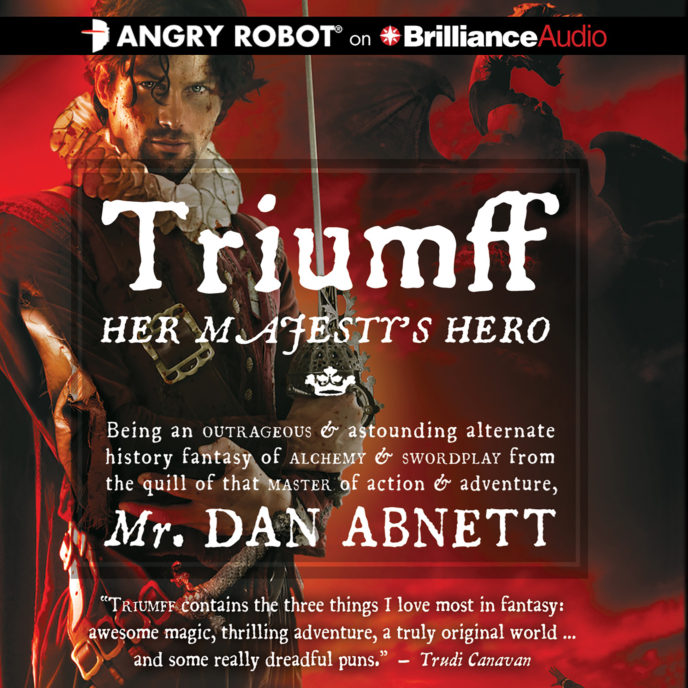 Printable Triumff: Her Majesty's Hero Audiobook Cover Art