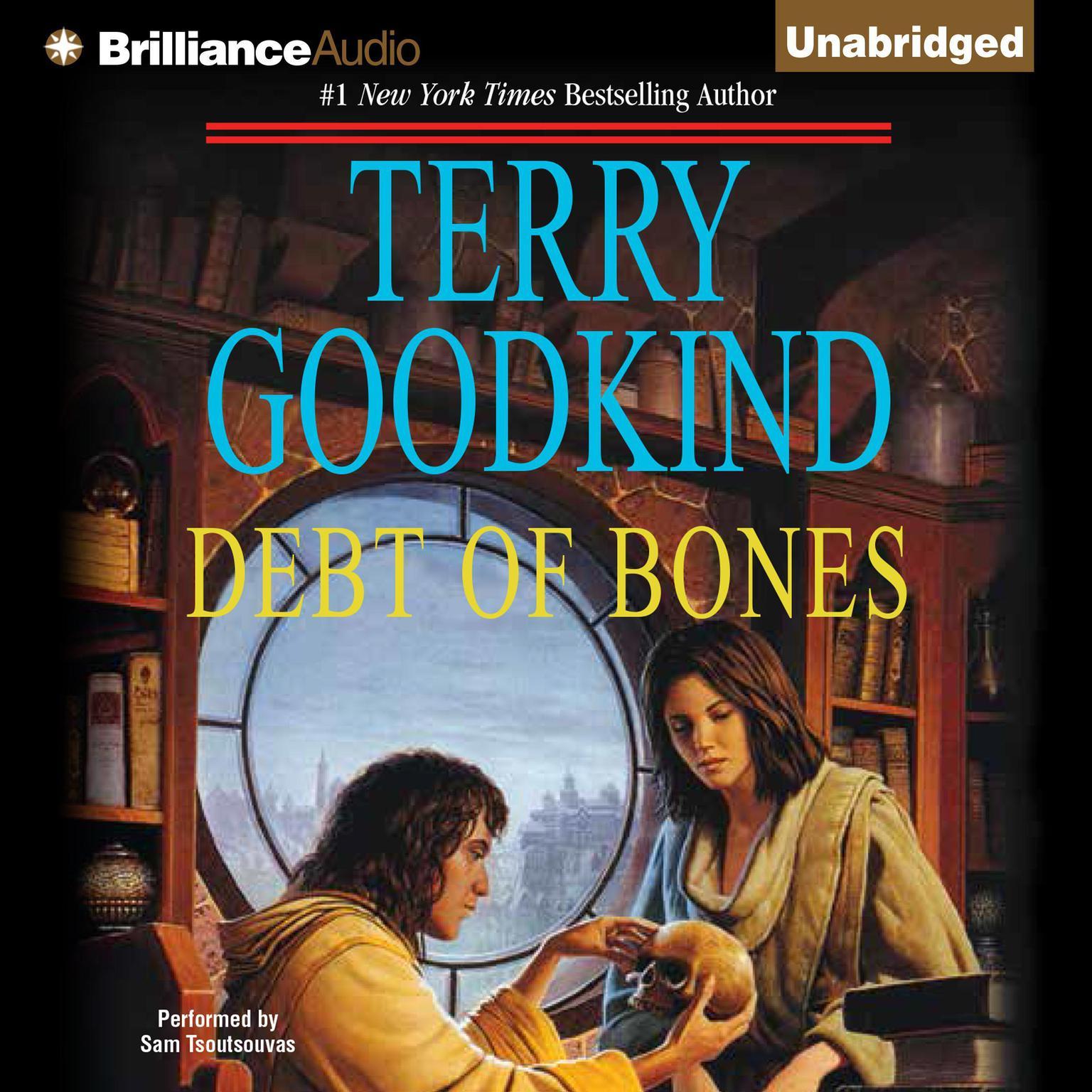 Printable Debt of Bones Audiobook Cover Art