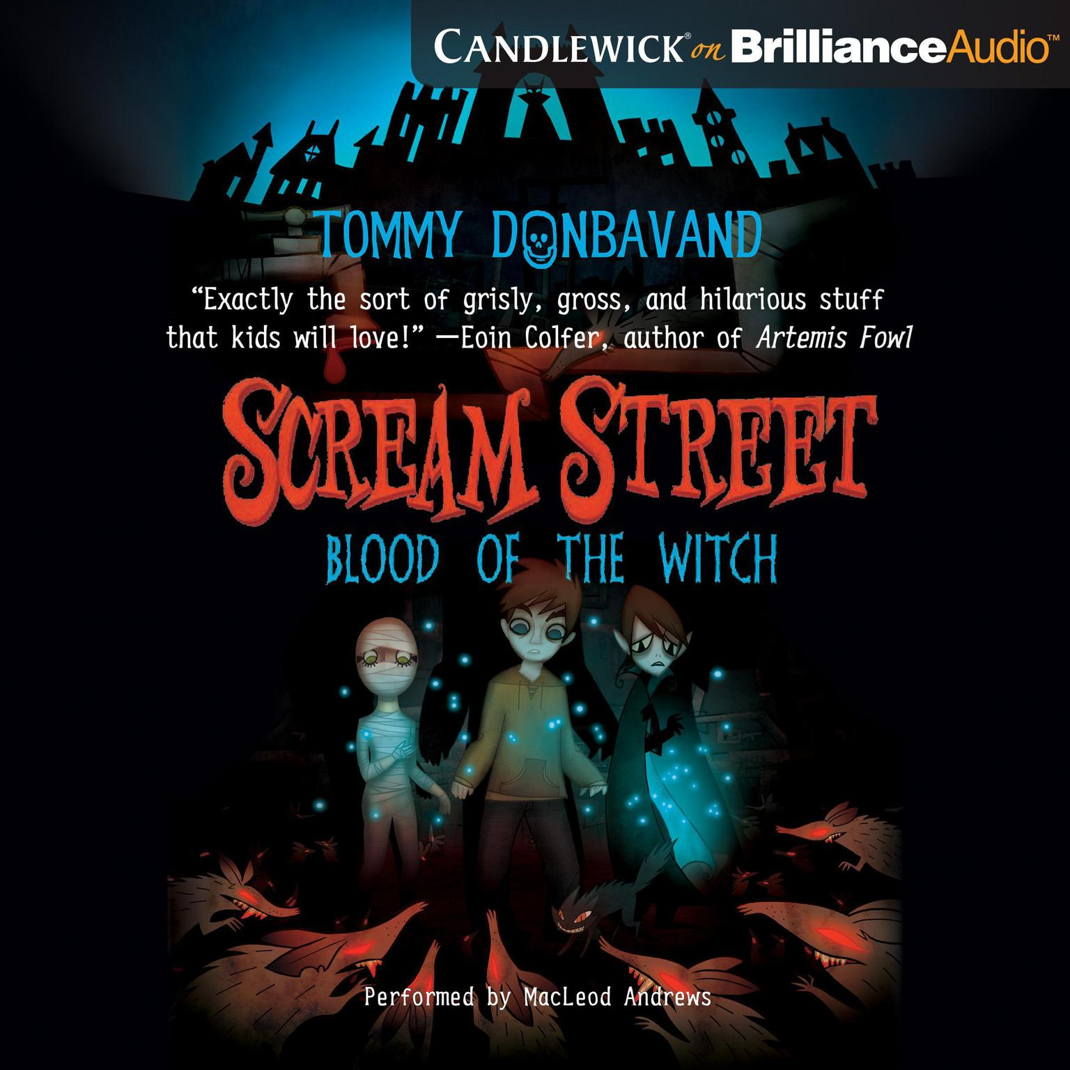 Printable Scream Street: Fang of the Vampire (Book #1) Audiobook Cover Art