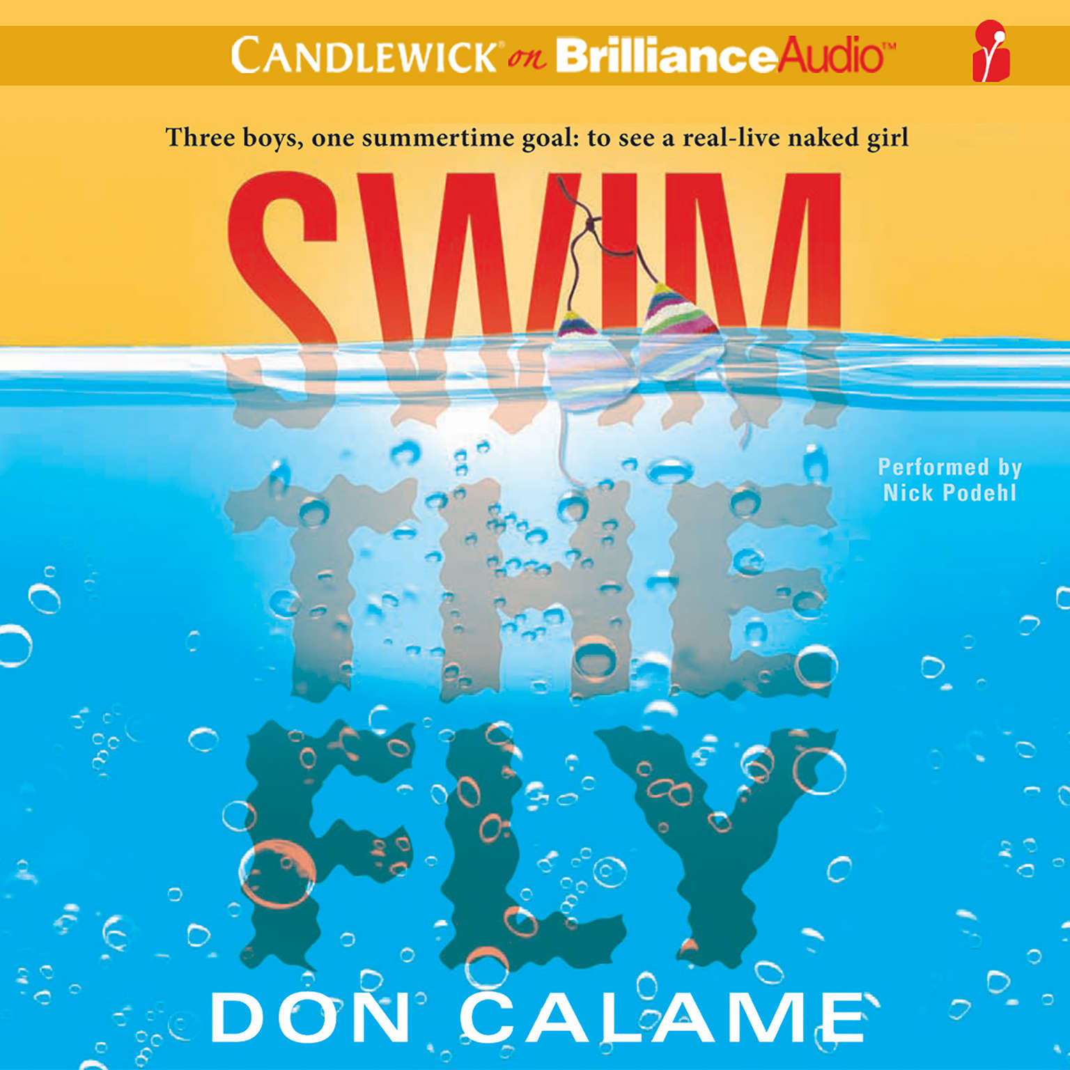Printable Swim the Fly Audiobook Cover Art
