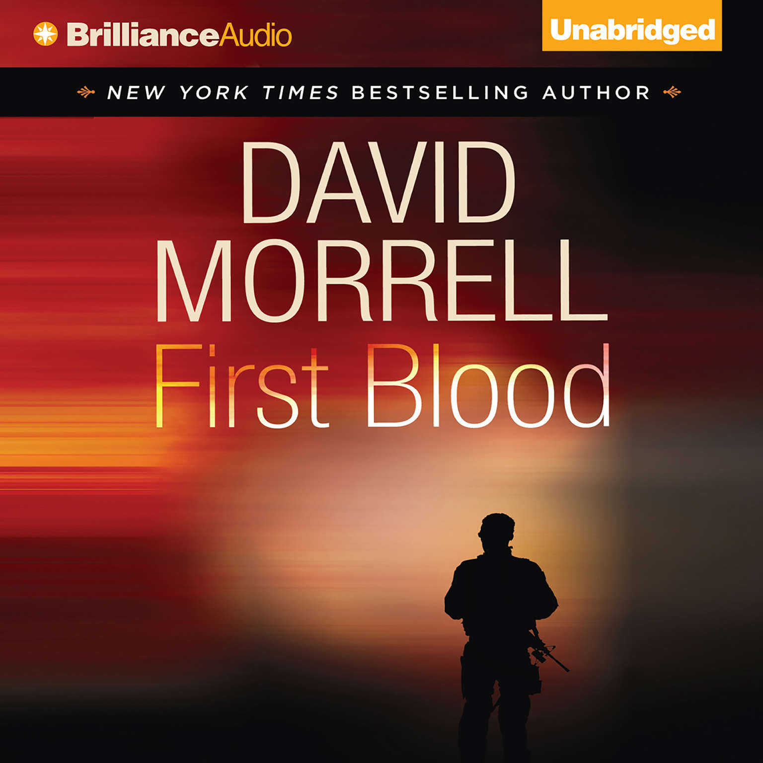 Printable First Blood Audiobook Cover Art