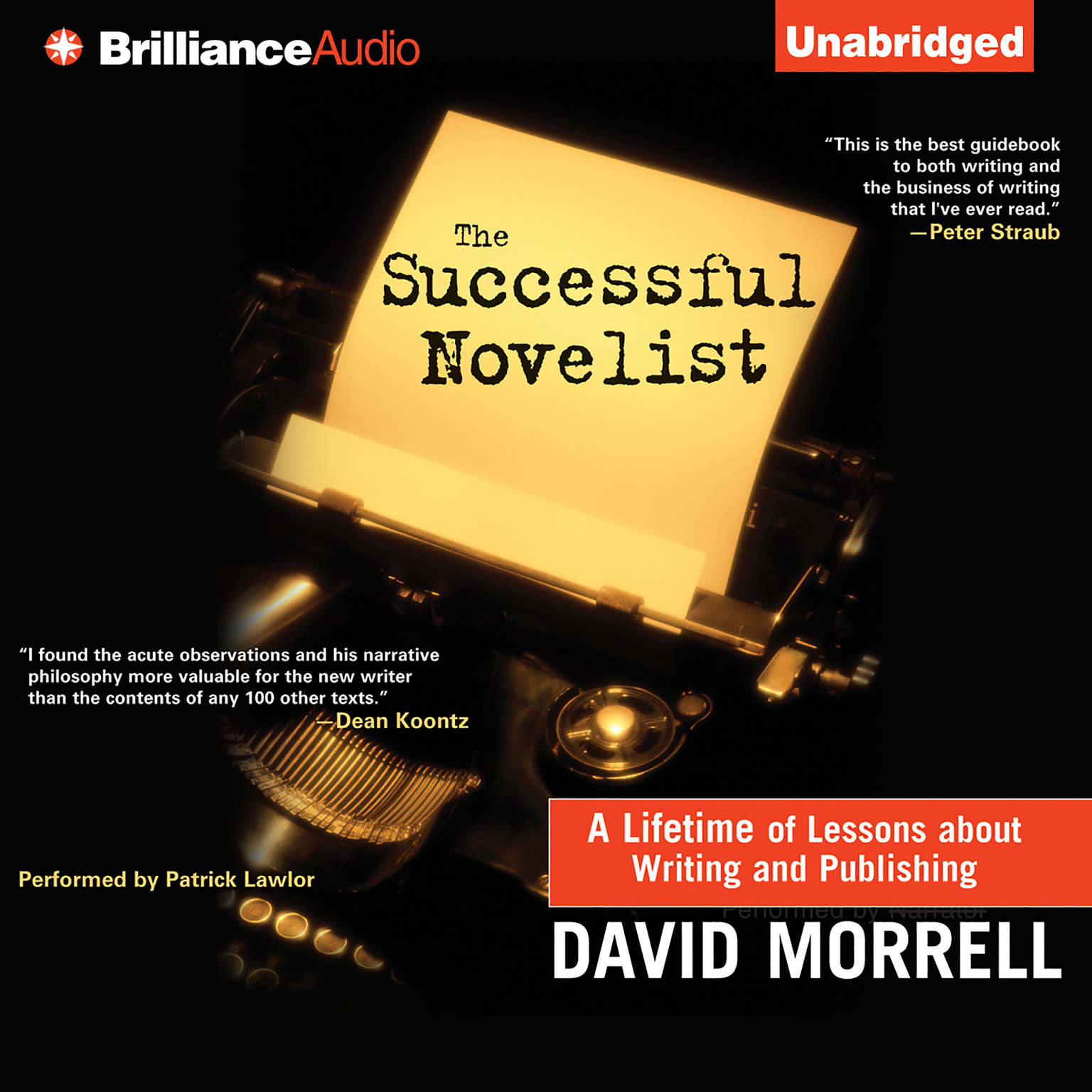 Printable The Successful Novelist: A Lifetime of Lessons about Writing and Publishing Audiobook Cover Art