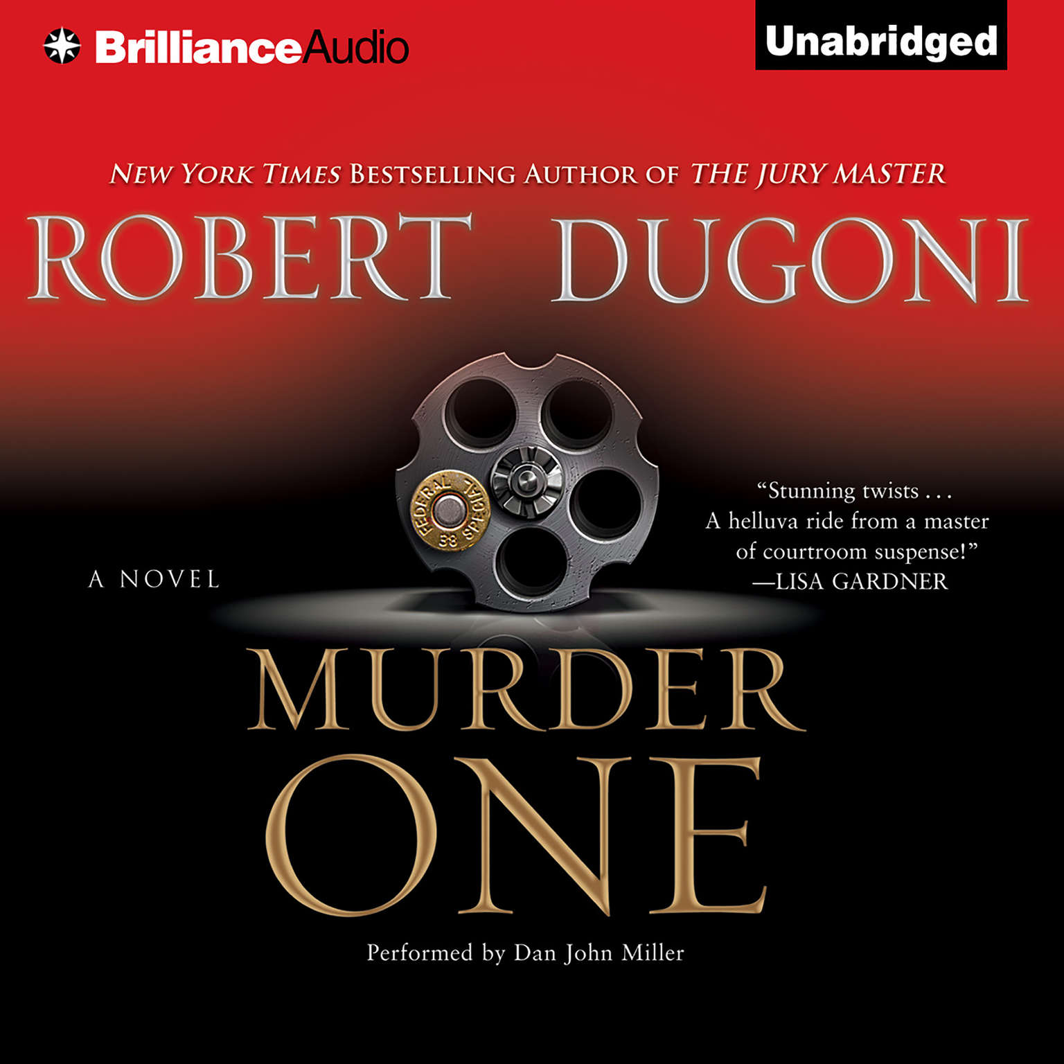 Printable Murder One Audiobook Cover Art