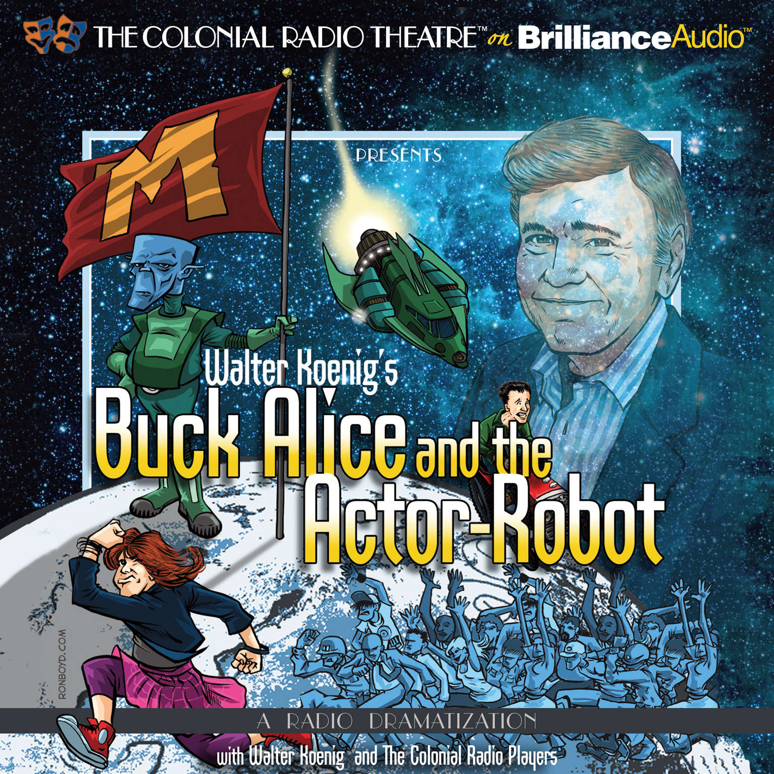 Printable Walter Koenig's Buck Alice and the Actor-Robot Audiobook Cover Art