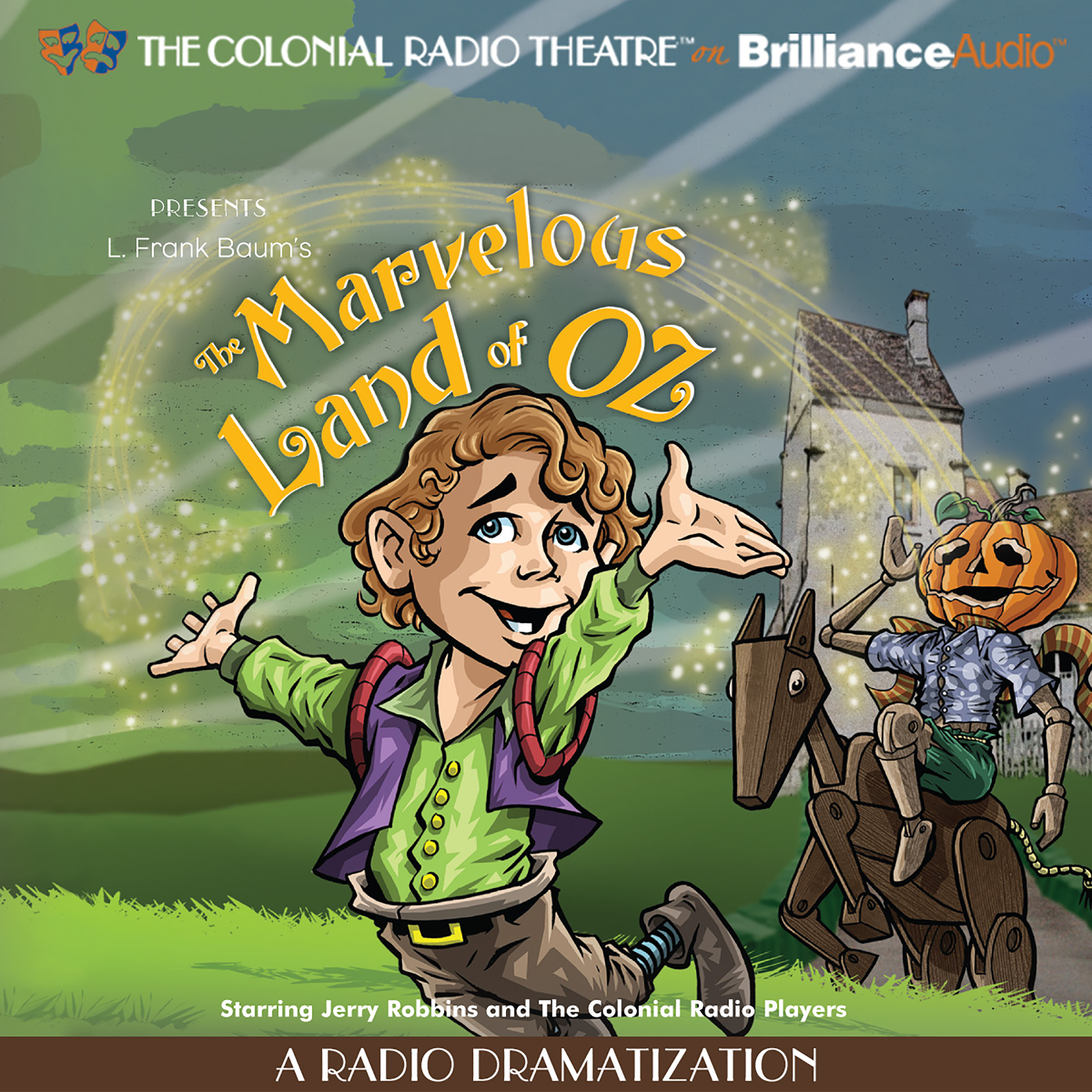 Printable The Marvelous Land of Oz: A Radio Dramatization Audiobook Cover Art