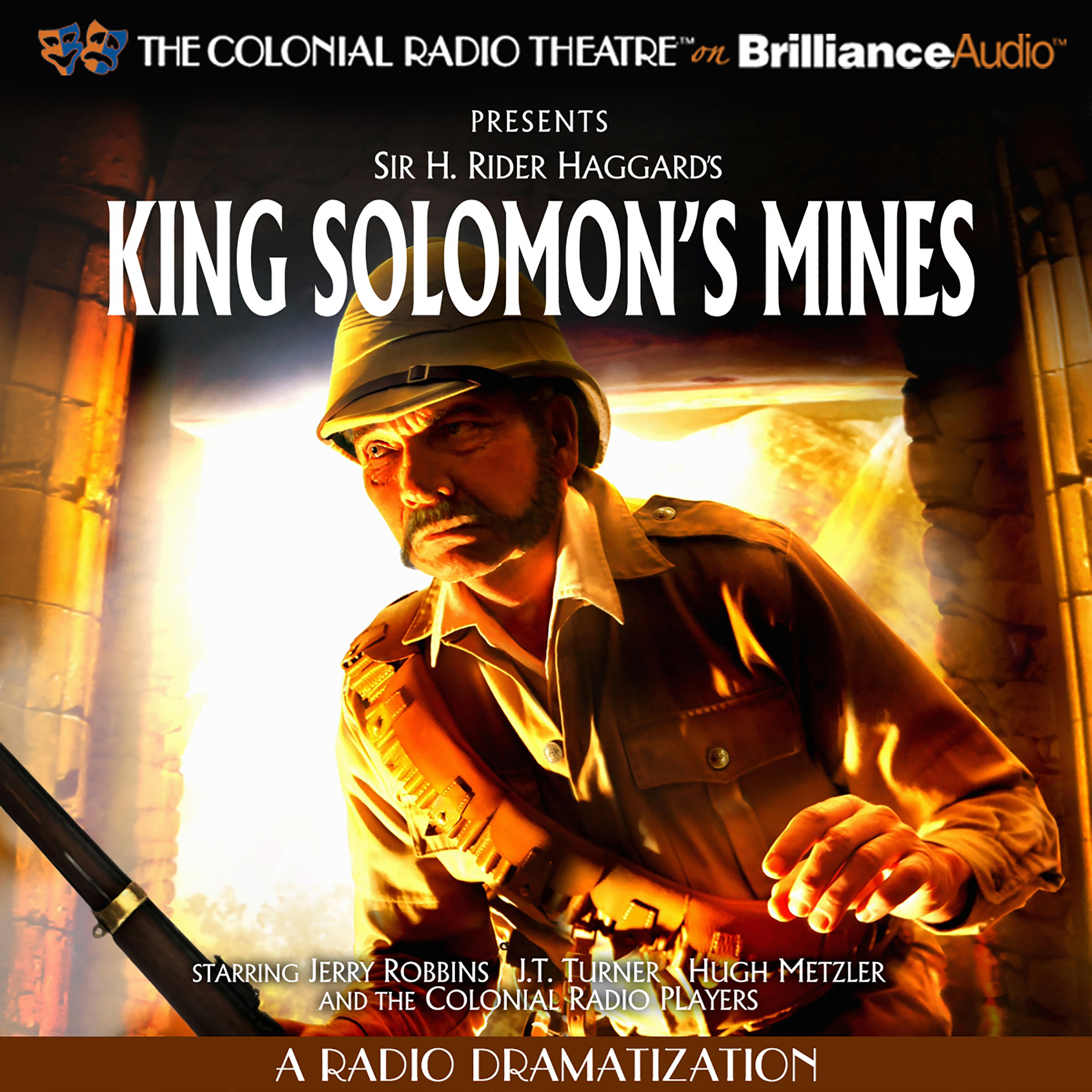 Printable King Solomon's Mines: A Radio Dramatization Audiobook Cover Art