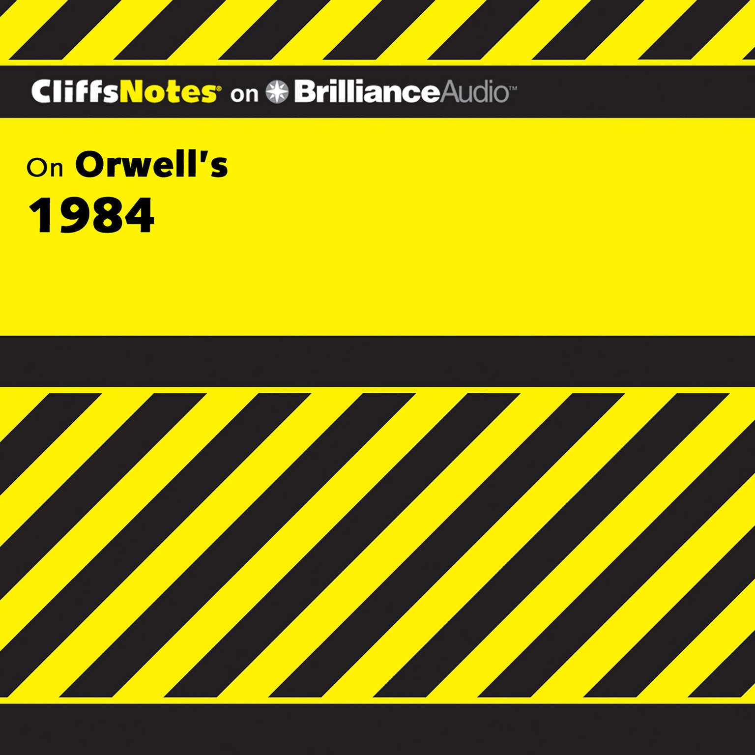 Printable On Orwell's 1984 Audiobook Cover Art