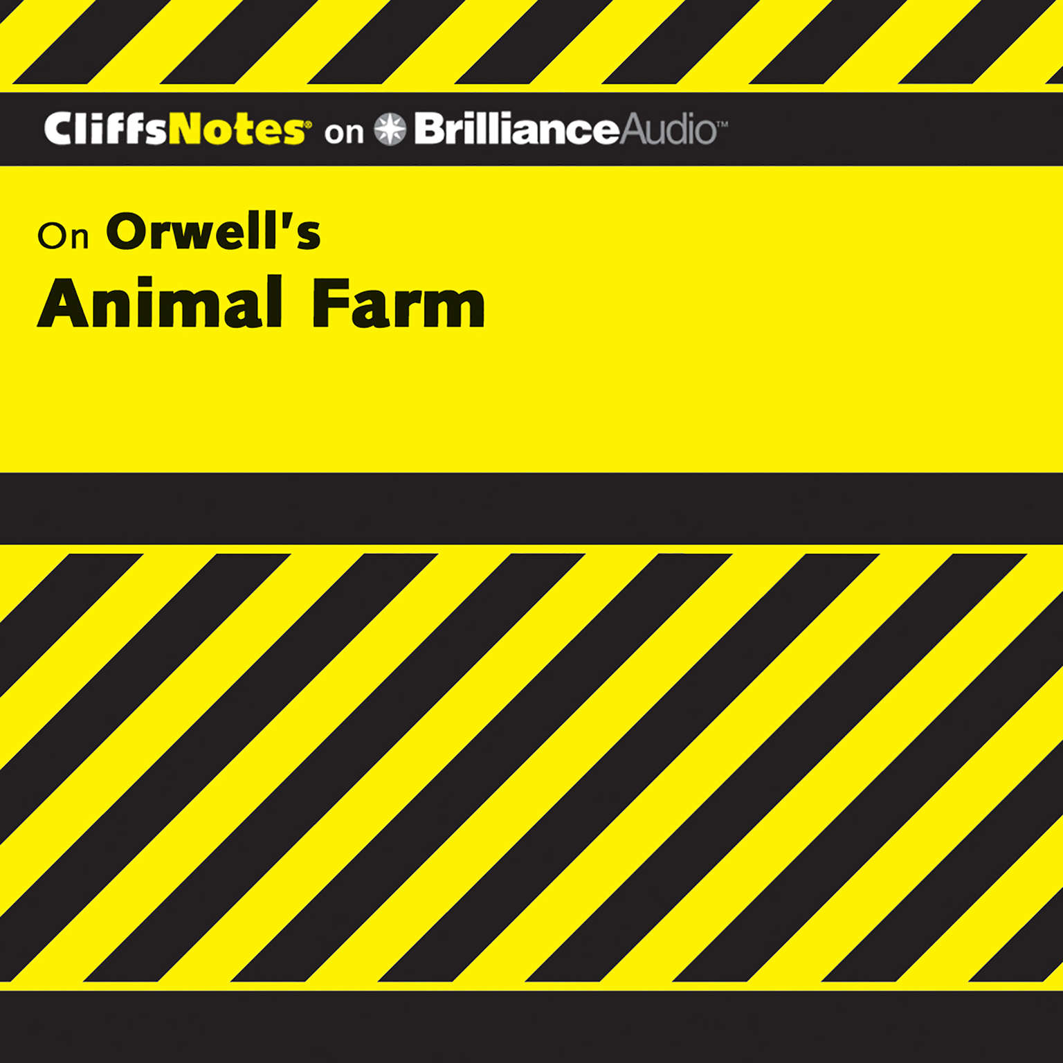 Printable On Orwell's Animal Farm Audiobook Cover Art