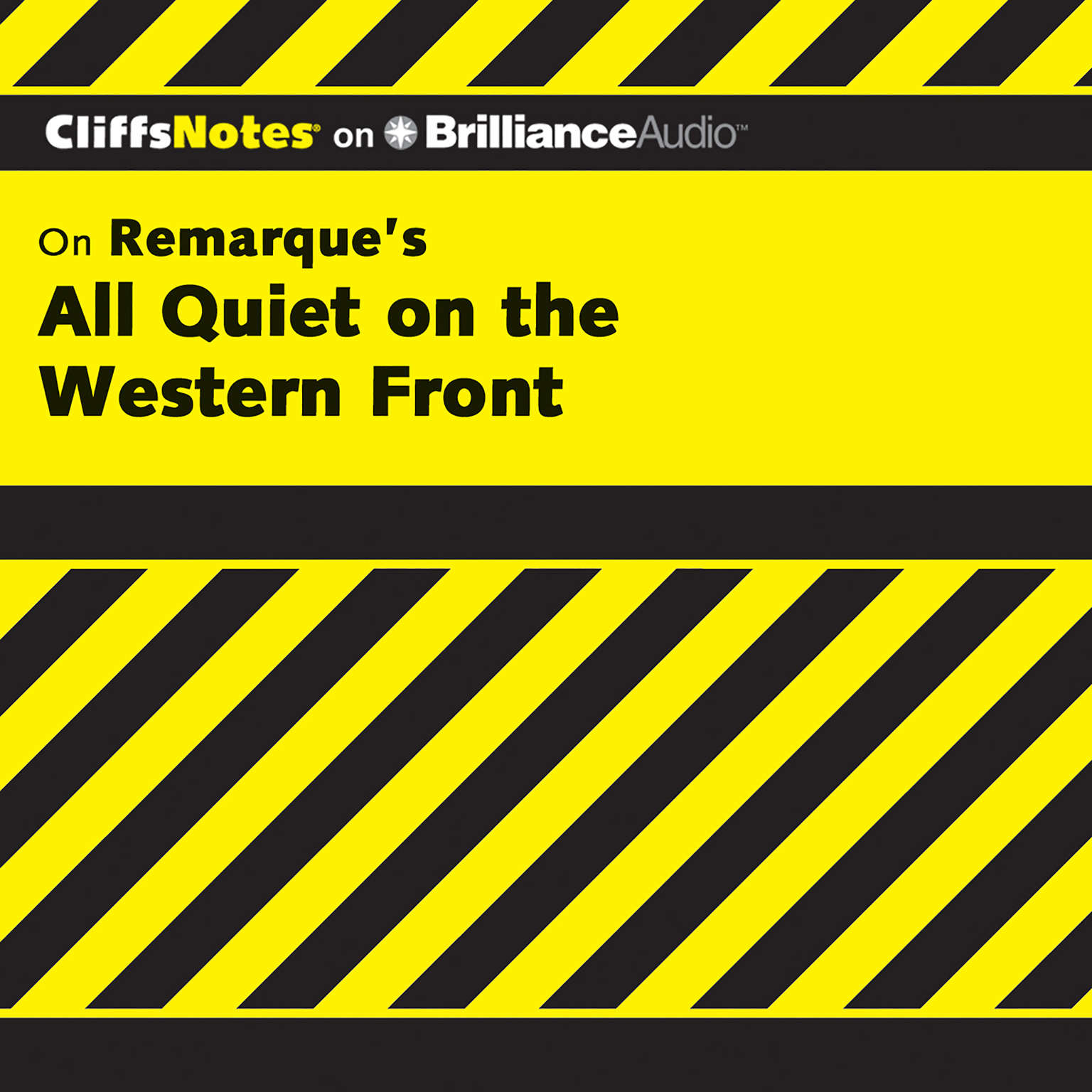 Printable On Remarque's All Quiet on the Western Front Audiobook Cover Art