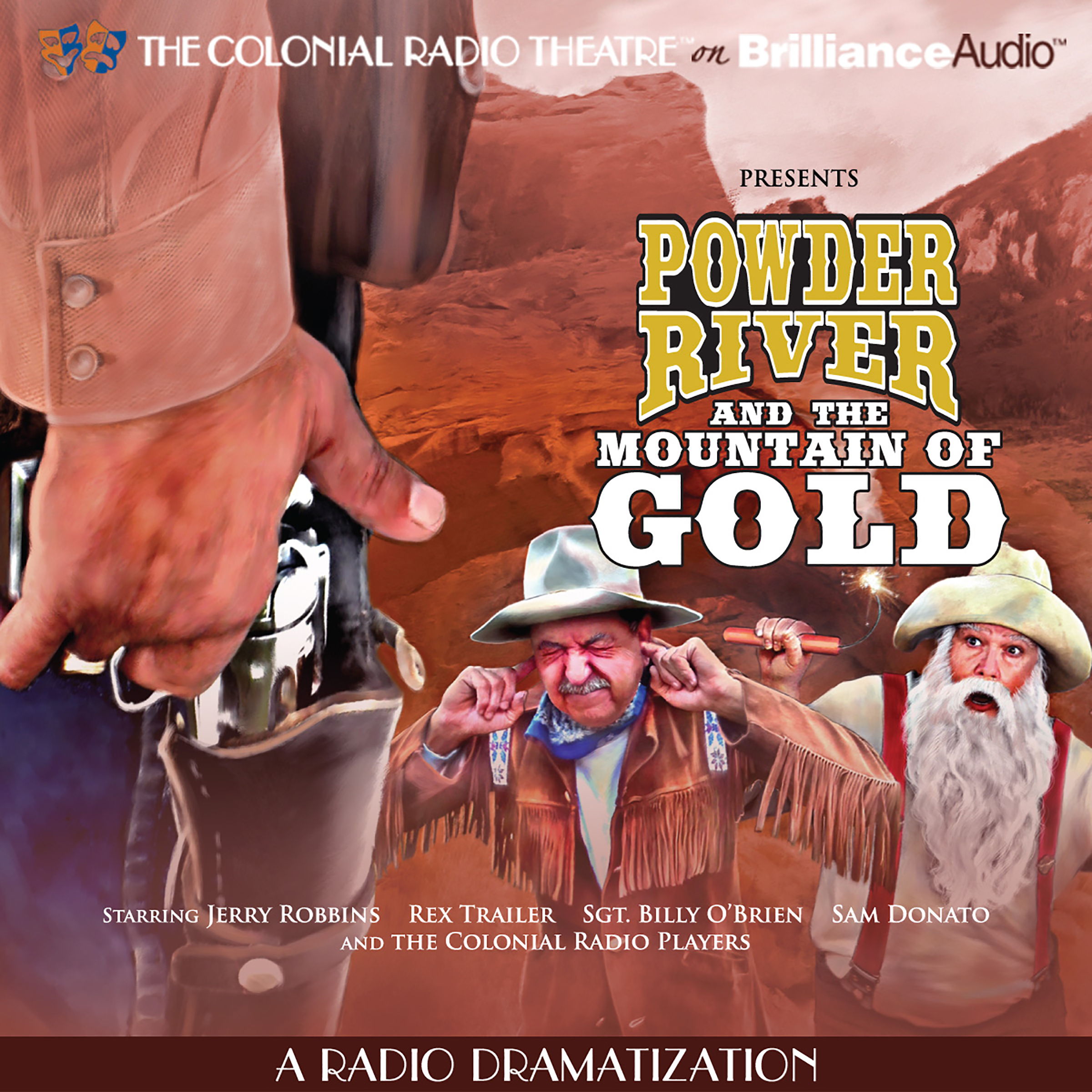 Printable Powder River and the Mountain of Gold: A Radio Dramatization Audiobook Cover Art