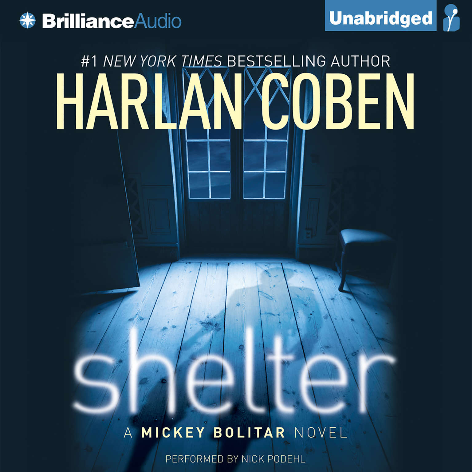 Printable Shelter: A Mickey Bolitar Novel Audiobook Cover Art