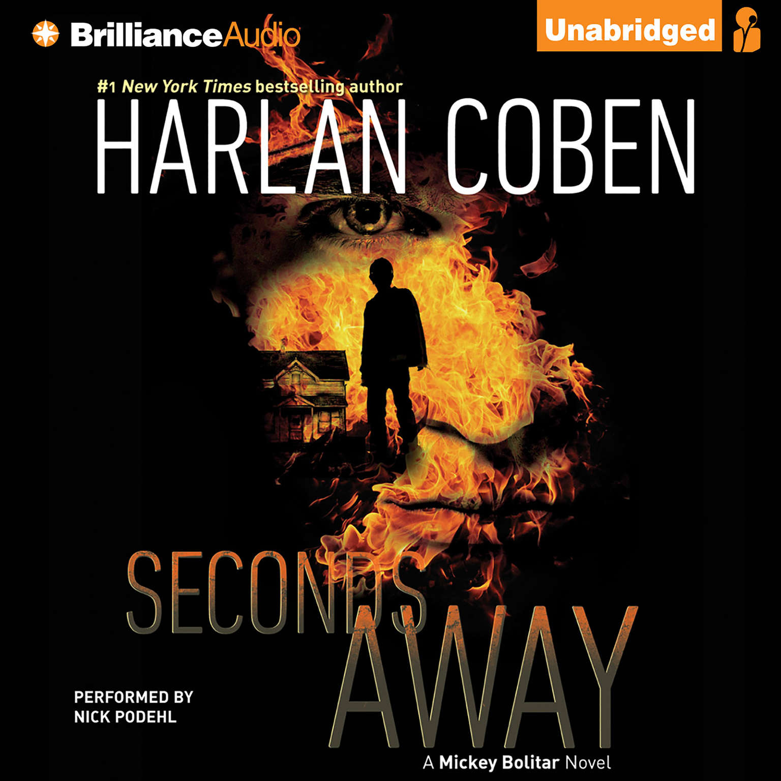 Printable Seconds Away: A Mickey Bolitar Novel Audiobook Cover Art