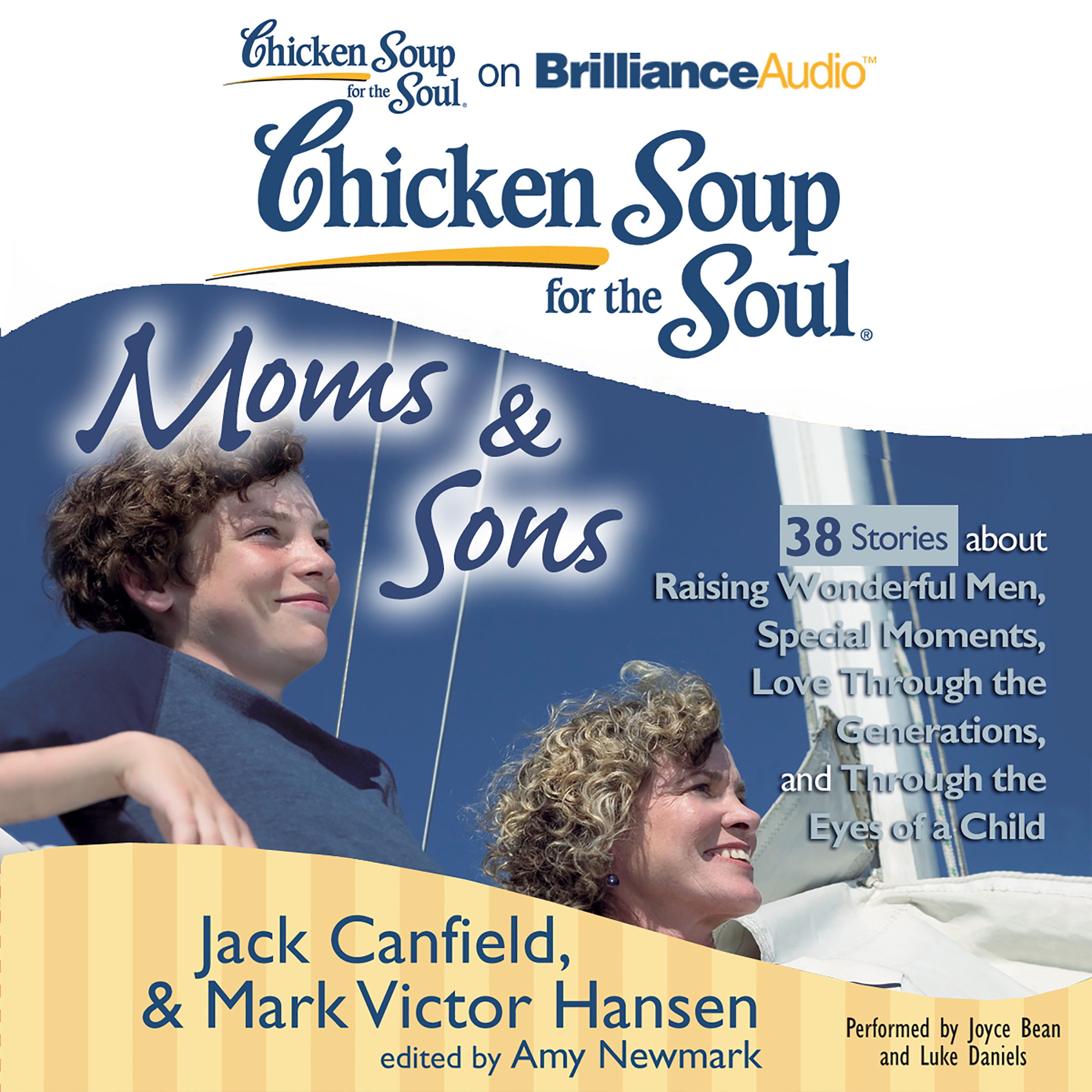 Printable Chicken Soup for the Soul: Moms & Sons - 38 Stories about Raising Wonderful Men, Special Moments, Love Through the Generations,  Audiobook Cover Art