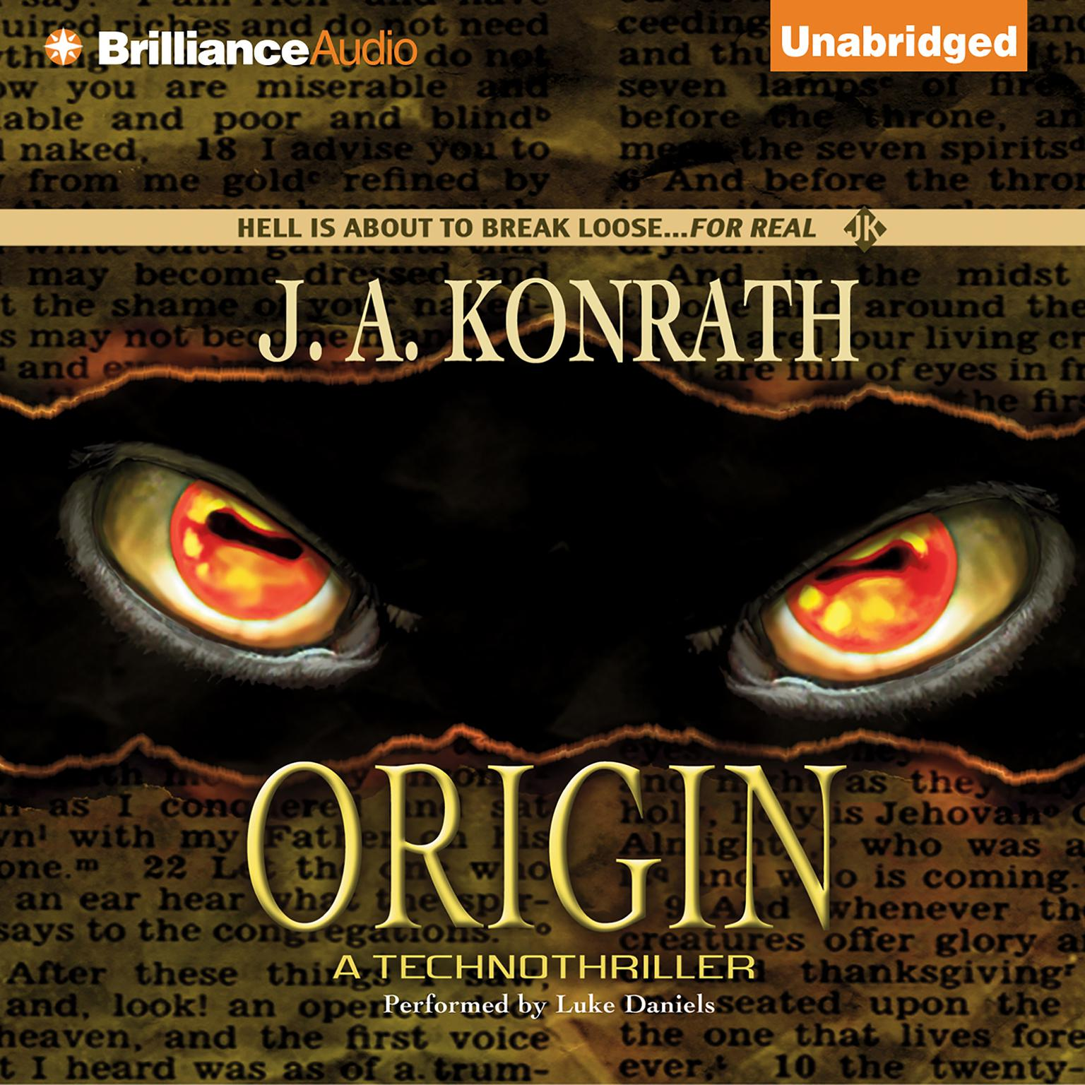 Printable Origin: A Technothriller Audiobook Cover Art