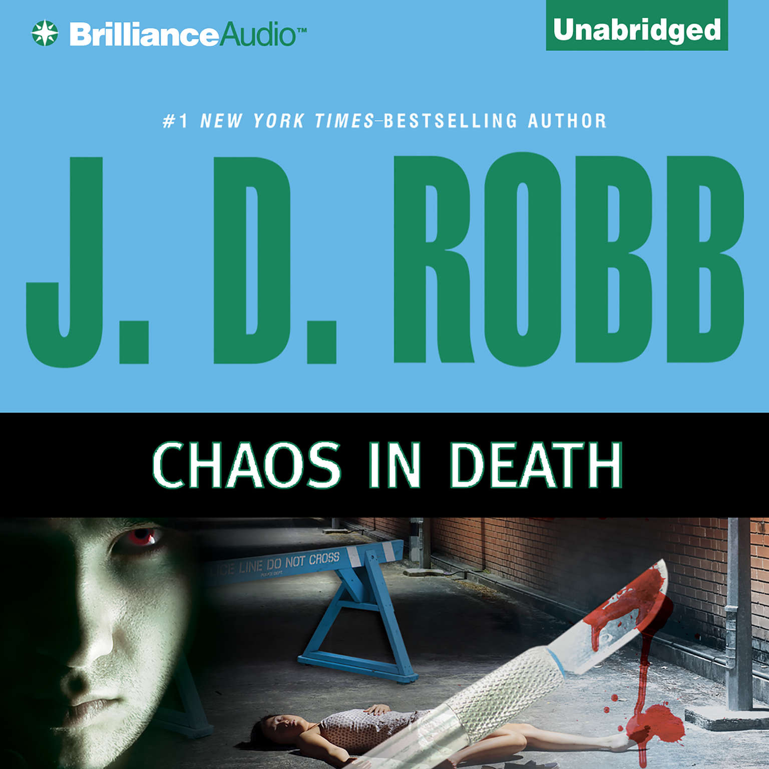 Printable Chaos in Death Audiobook Cover Art