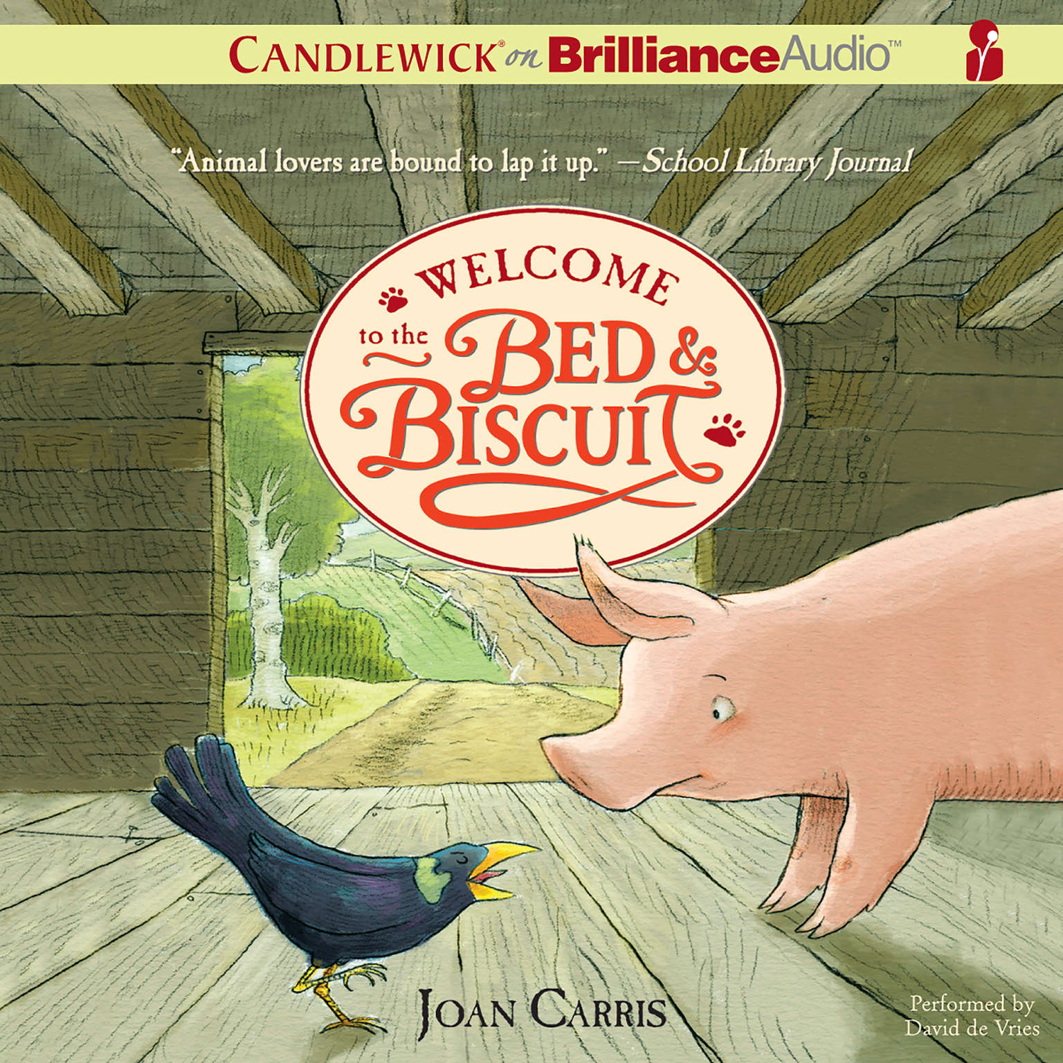 Printable Welcome to the Bed & Biscuit Audiobook Cover Art