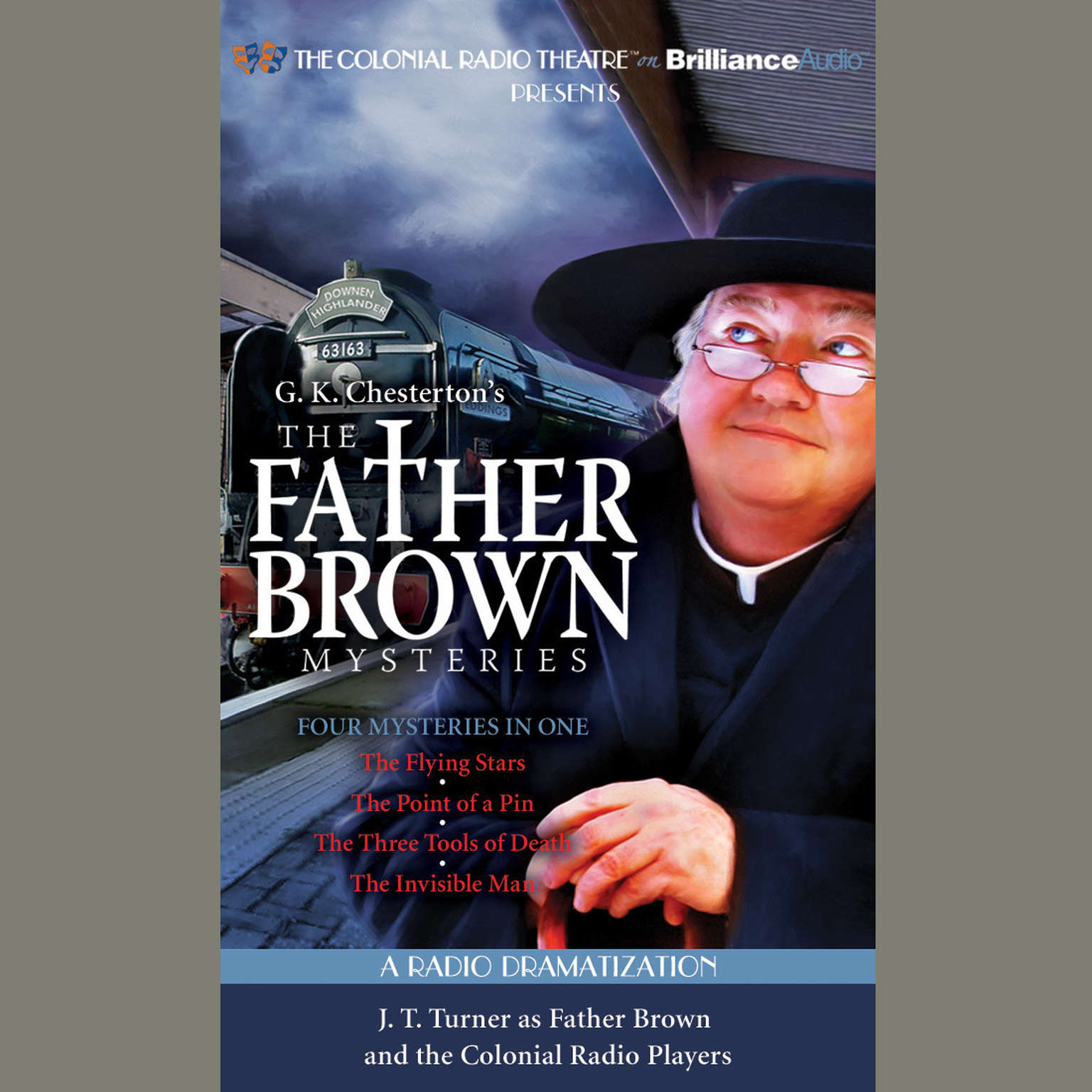 Printable The Father Brown Mysteries, Vol. 2: The Flying Stars, The Point of a Pin, The Three Tools of Death, and The Invisible Man Audiobook Cover Art