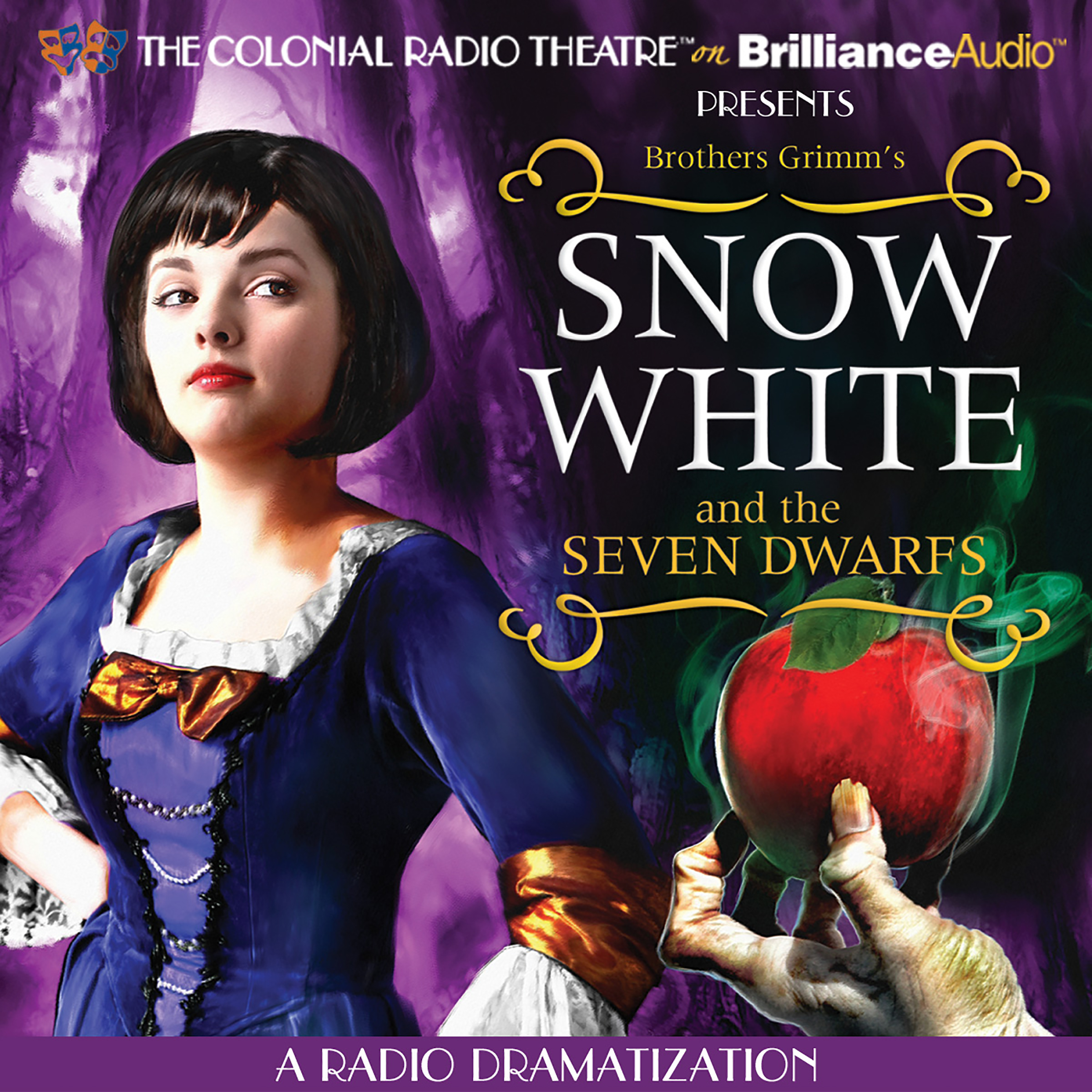 Printable Snow White and the Seven Dwarfs: A Radio Dramatization Audiobook Cover Art