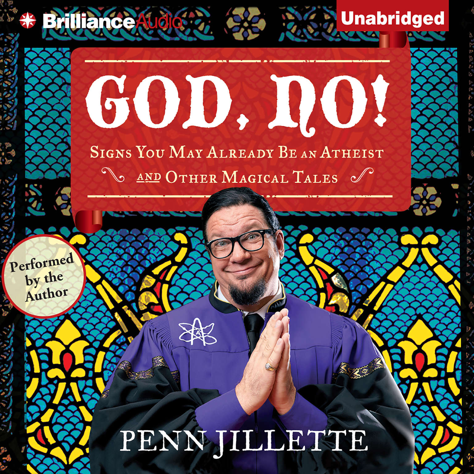 Printable God, No!: Signs You May Already Be an Atheist and Other Magical Tales Audiobook Cover Art