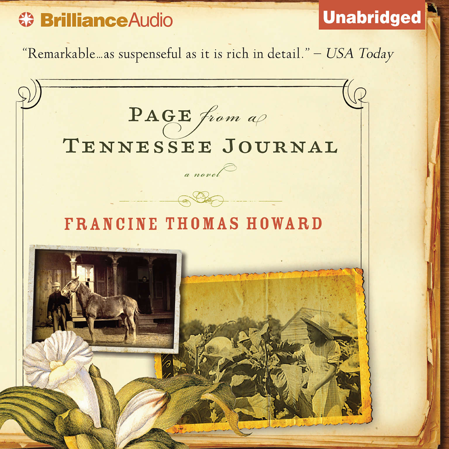 Printable Page From A Tennessee Journal Audiobook Cover Art