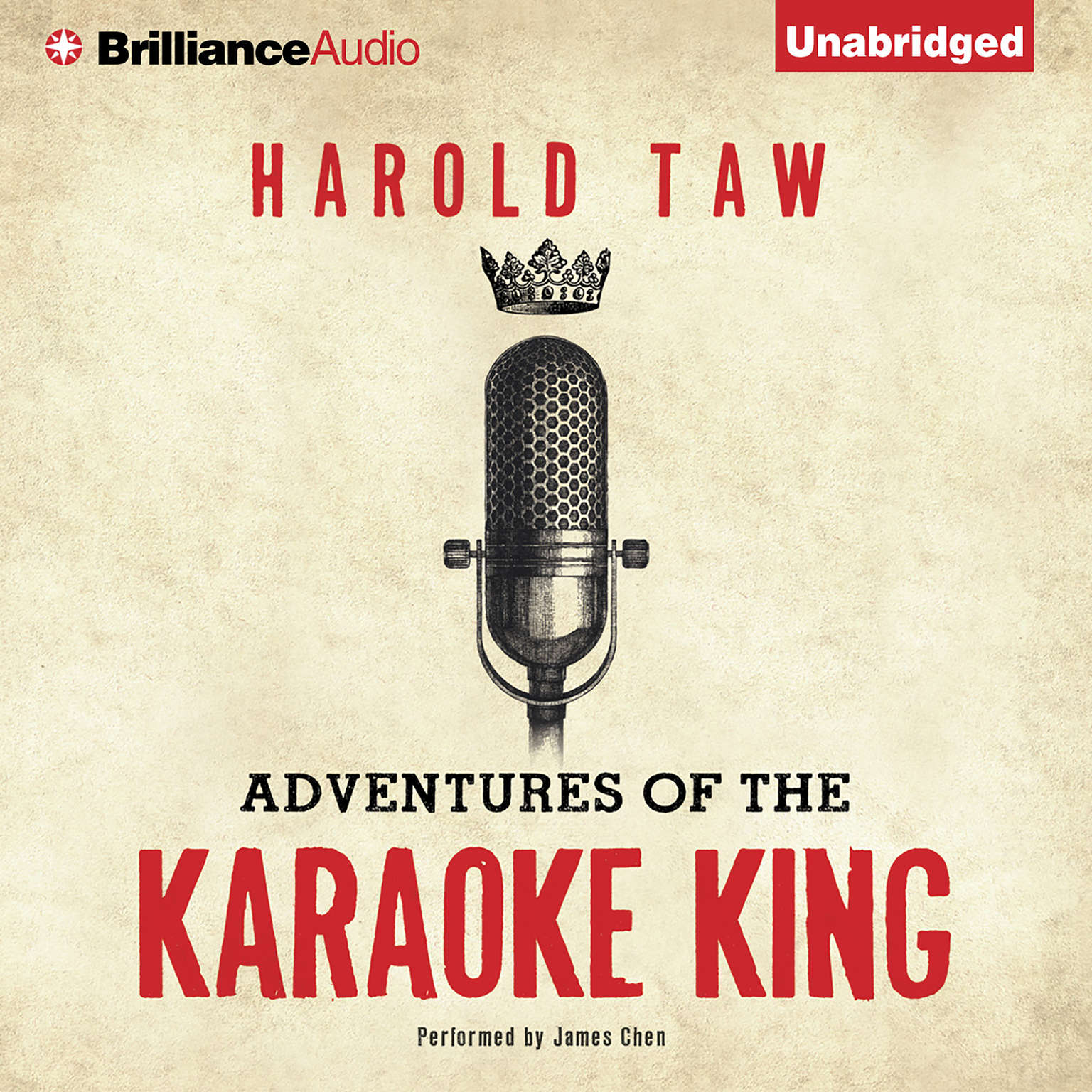 Printable Adventures of the Karaoke King Audiobook Cover Art