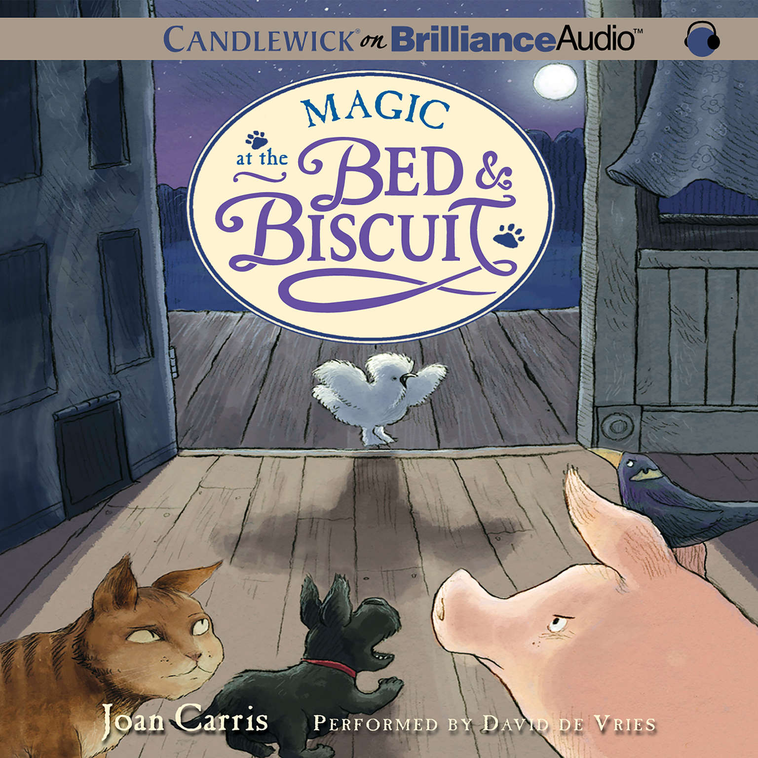 Printable Magic at the Bed & Biscuit Audiobook Cover Art