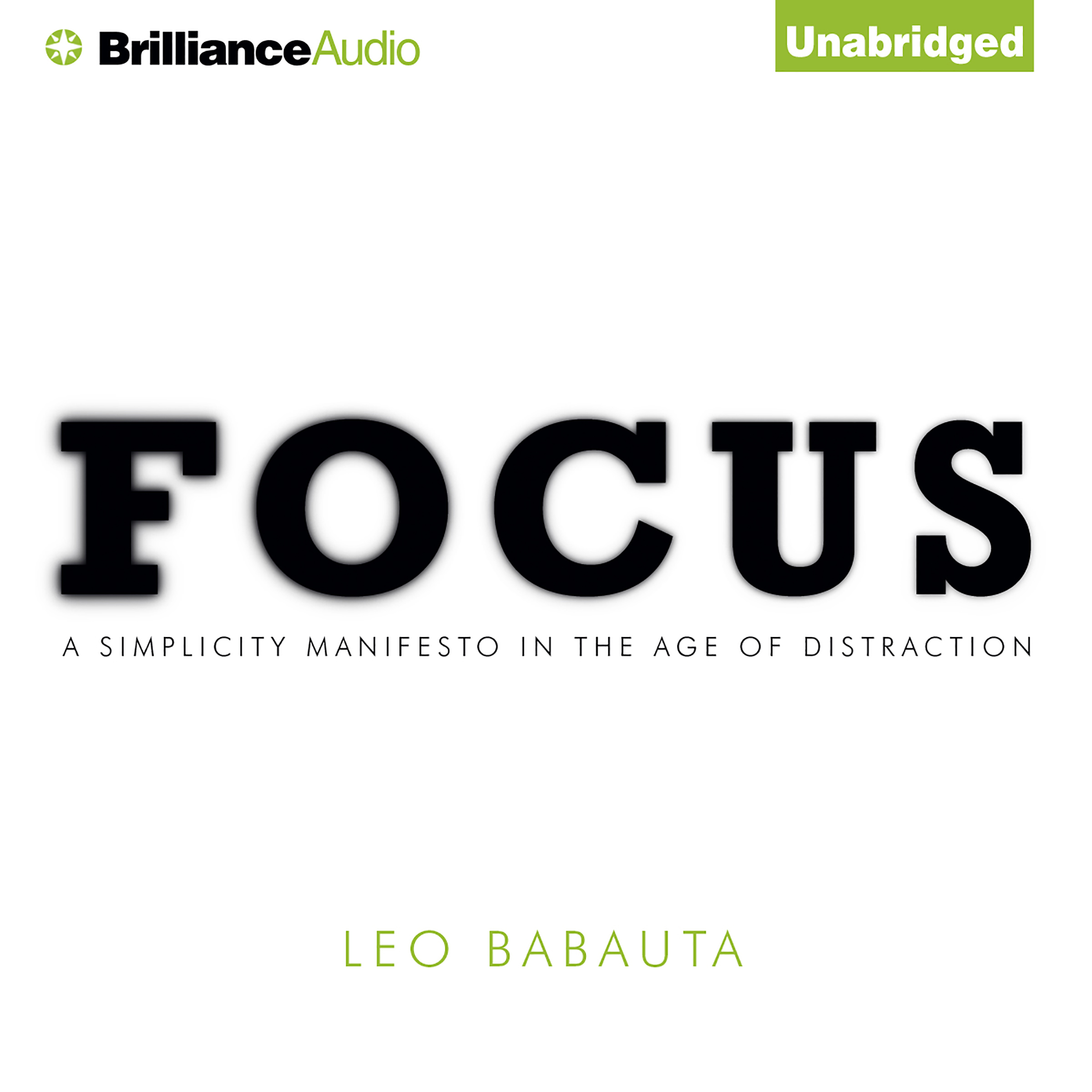 Printable Focus: A Simplicity Manifesto in the Age of Distraction Audiobook Cover Art