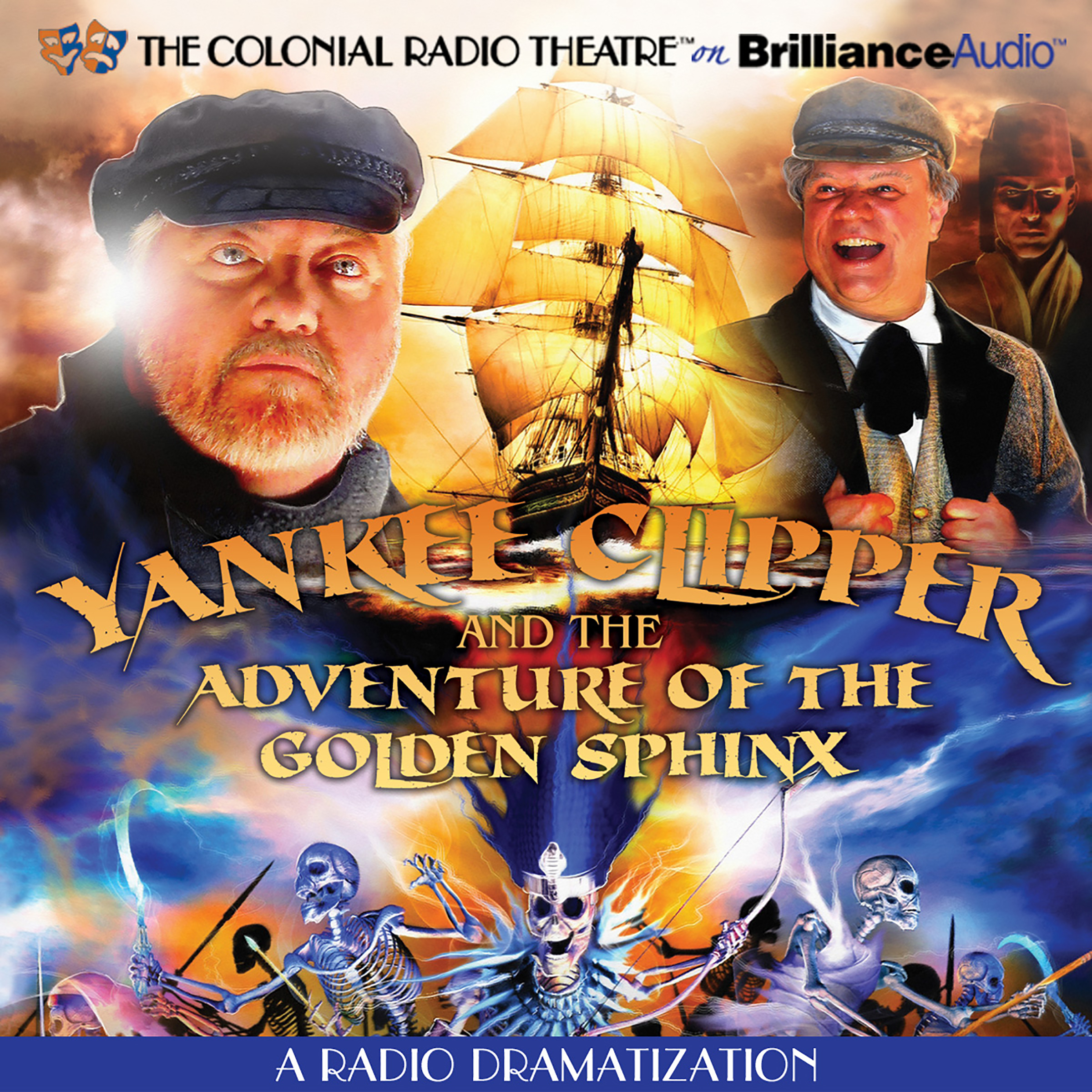 Printable Yankee Clipper and the Adventure of the Golden Sphinx: A Radio Dramatization Audiobook Cover Art