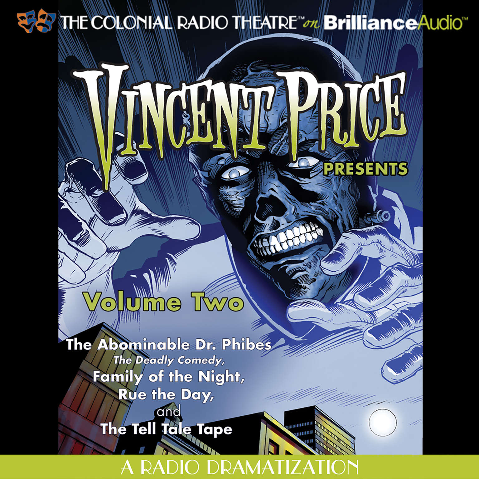 Printable Vincent Price Presents, Vol. 2: Four Radio Dramatizations Audiobook Cover Art