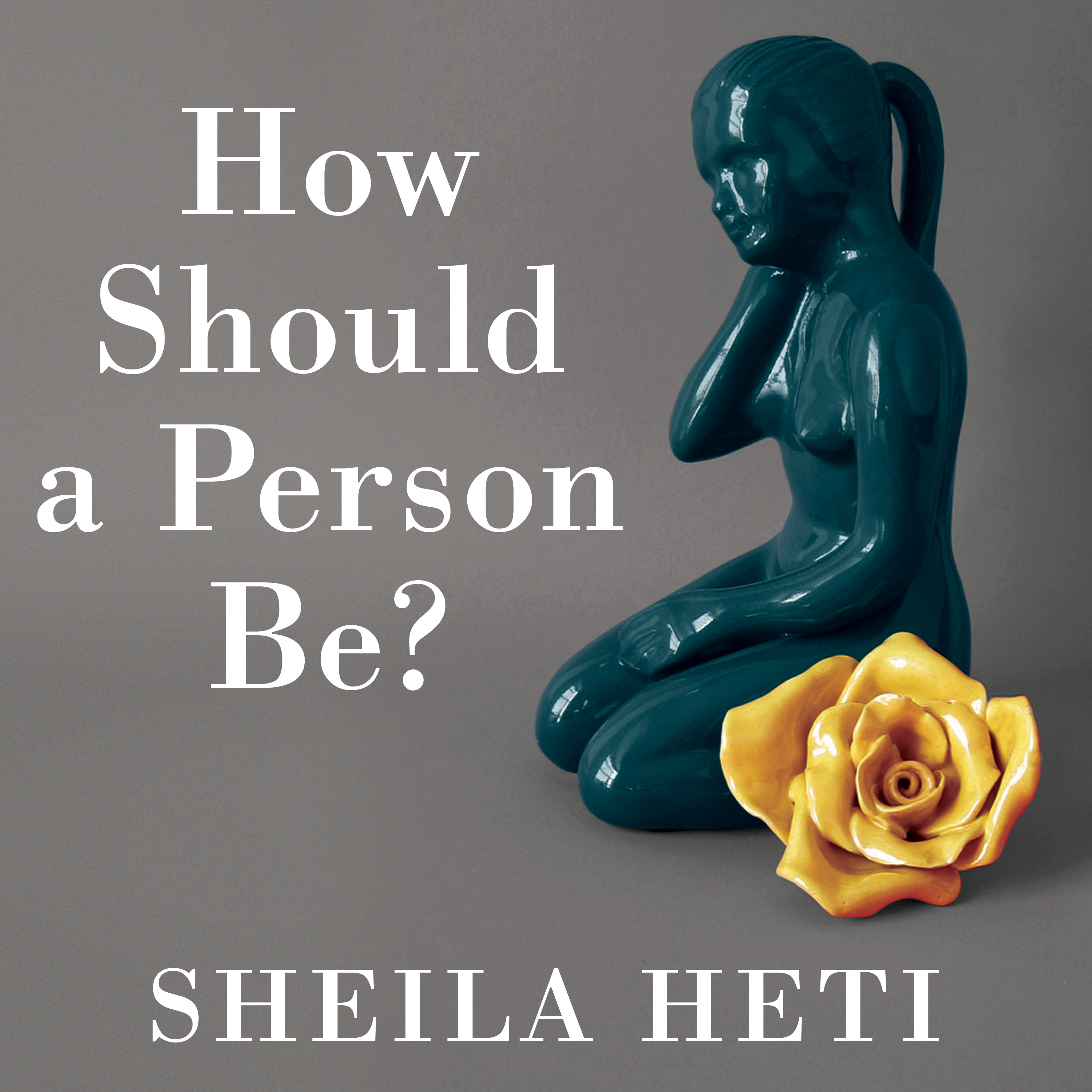Printable How Should a Person Be? Audiobook Cover Art